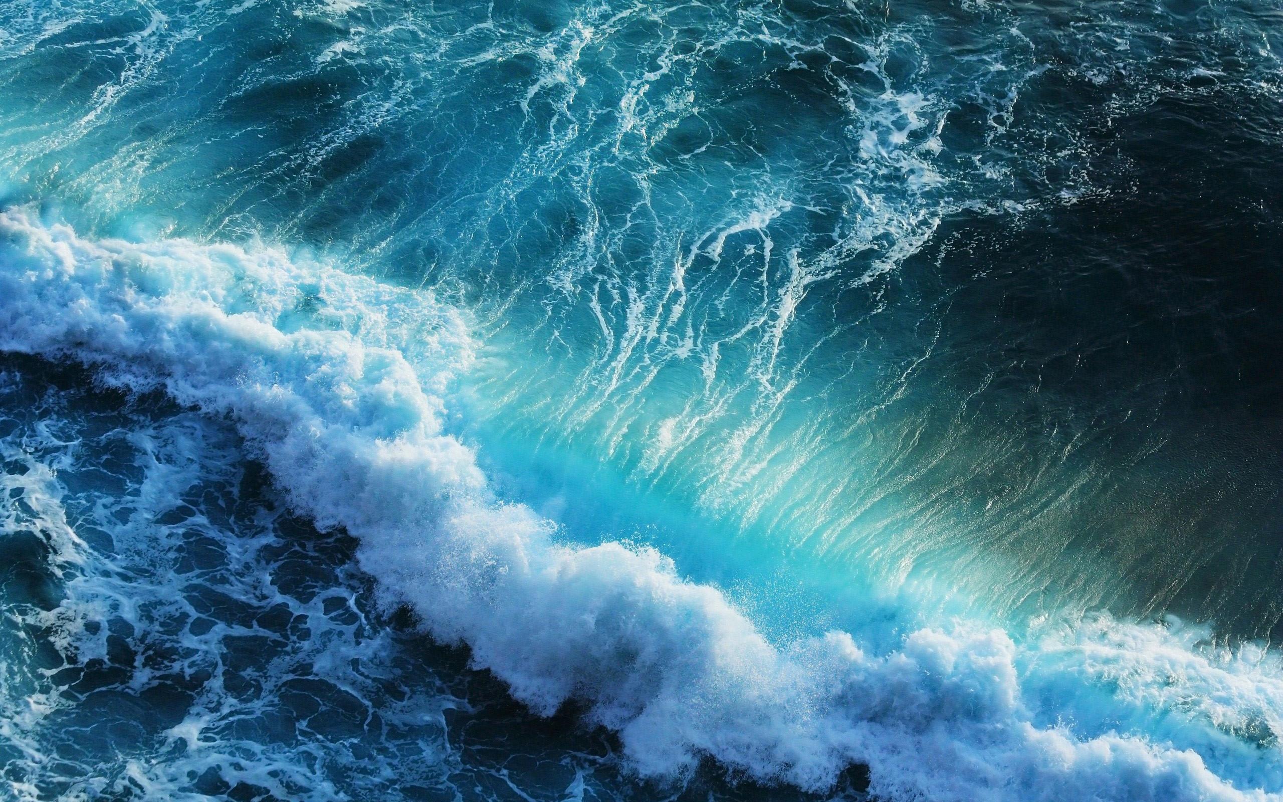 Res: 2560x1600, Blue Ocean Waves Splash Free Wallpaper HD Uploaded by DesktopWalls