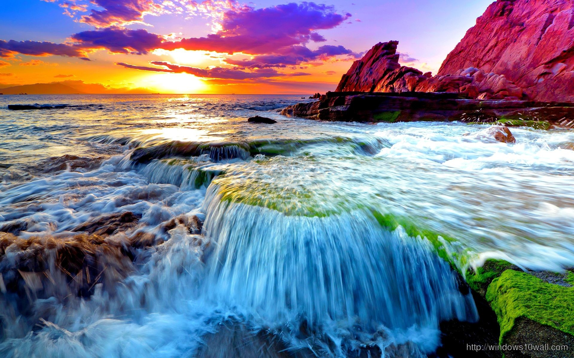 Res: 1920x1200, Beautiful scene of Earth Ocean Wallpaper – windows 10 Wallpapers