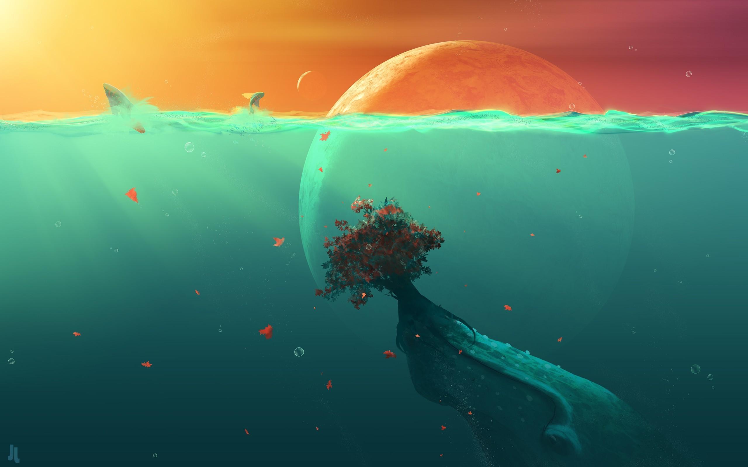 Res: 2560x1600, Deep Ocean Planet Fish (Laptop HD)