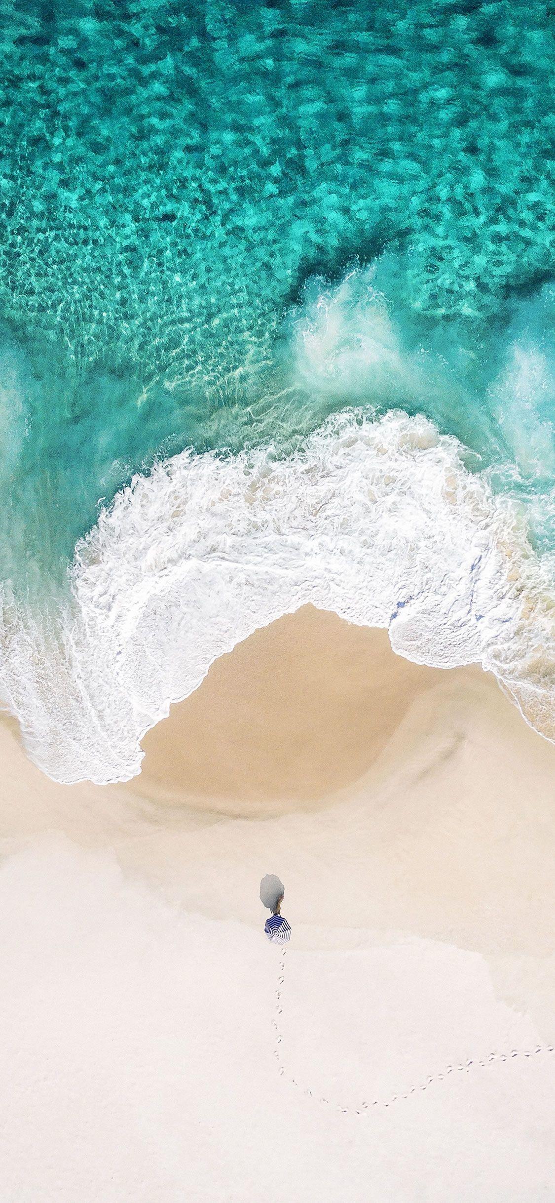 Res: 1125x2436, Summer Ocean #iPhone #X #wallpaper