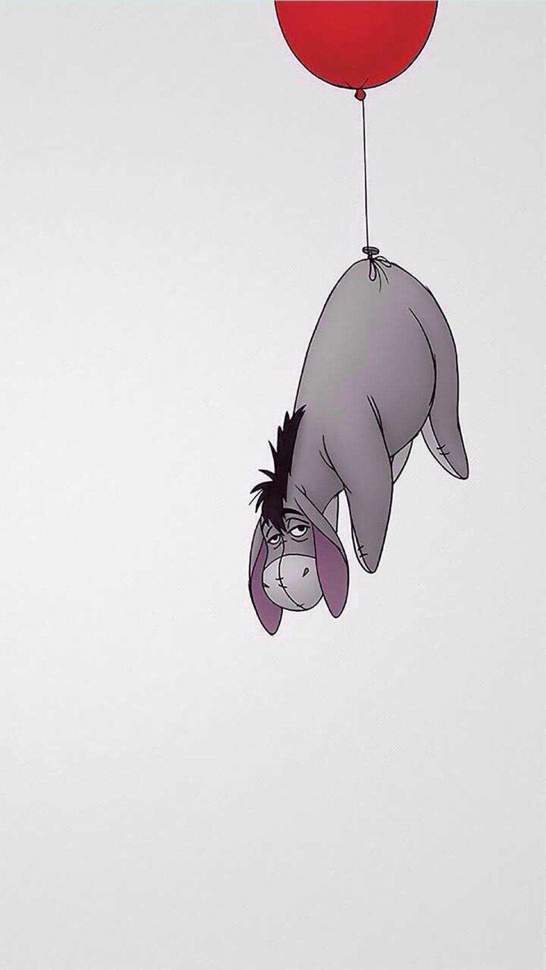 Res: 1080x1920, Eeyore Winnie The Pooh iPhone 6+ HD Wallpaper