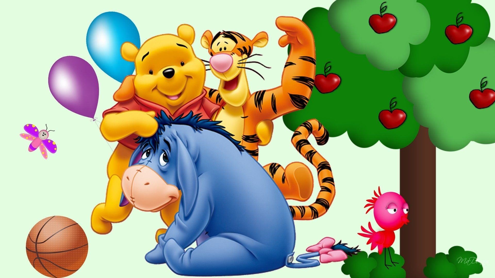 Res: 1920x1080, Winnie Tigger and Eeyore Wallpaper