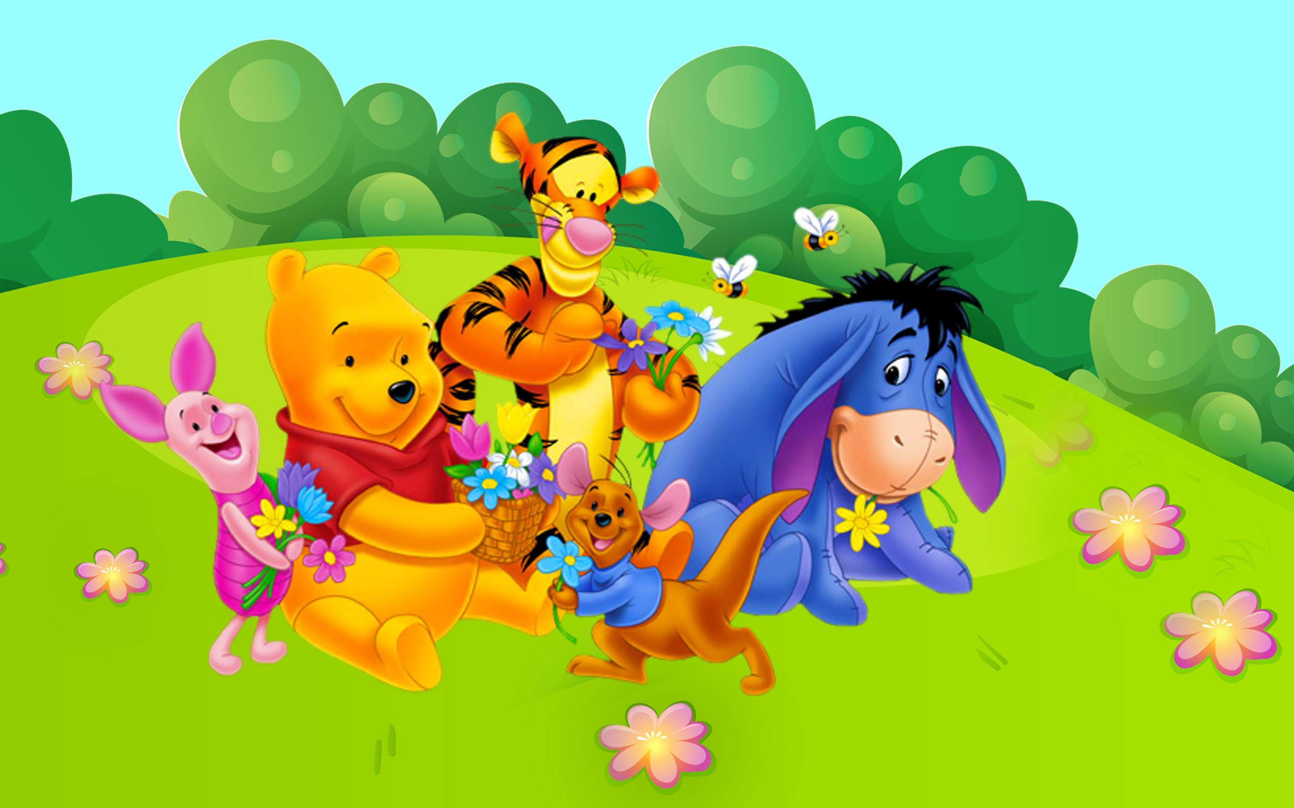 Res: 2560x1600, Winnie The Pooh Full Hd Wallpaper Pics Tigger Kangaroo Roo Piglet Eeyore  Gray Donkey For Computer