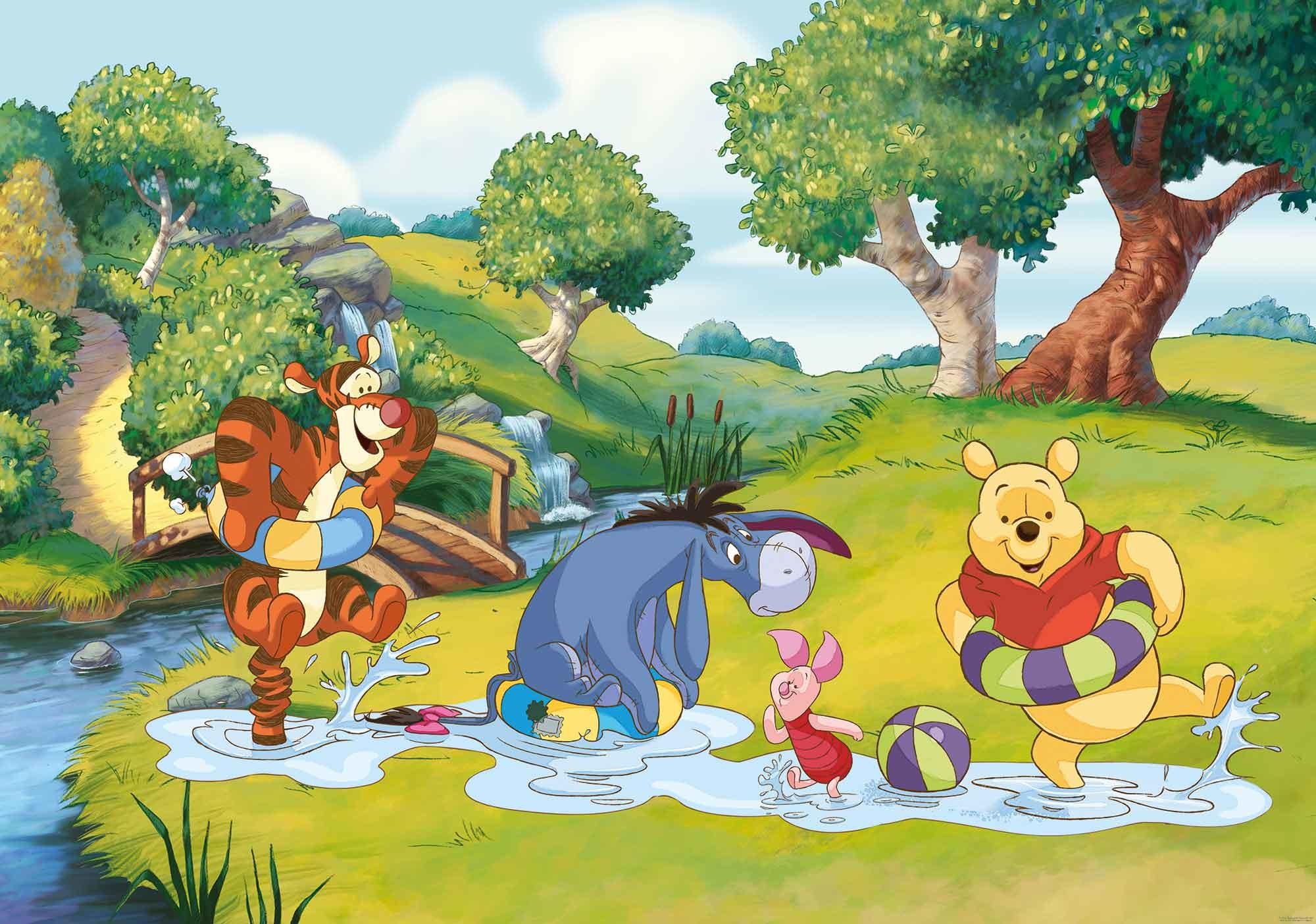 Res: 2000x1404, Disney Winnie Pooh Tigger Eeyore Piglet Photo Wallpaper Mural (808WM) -  Photo Wallpaper Murals - Catalogue - Consalnet Partner Portal