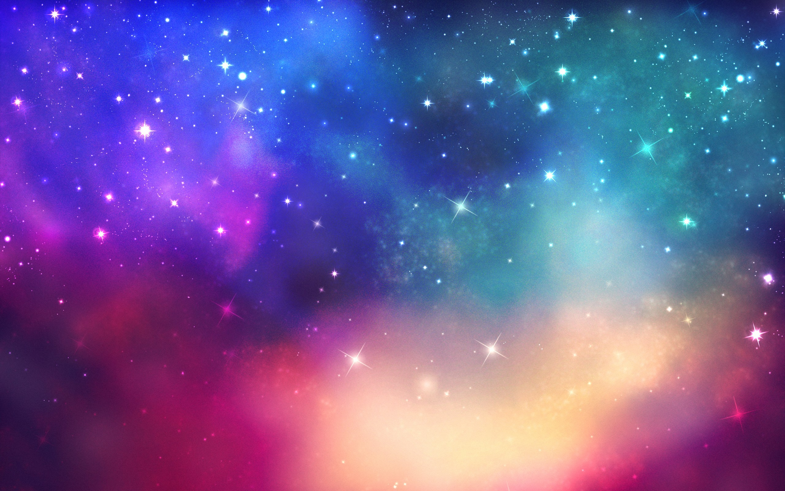 Res: 2560x1600, Colorful Galaxy Wallpapers Hd
