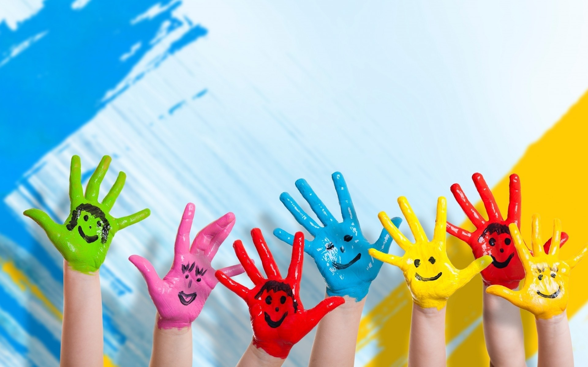 Res: 1920x1200, Colorful Hands Wide Download Hd Wallpaper For