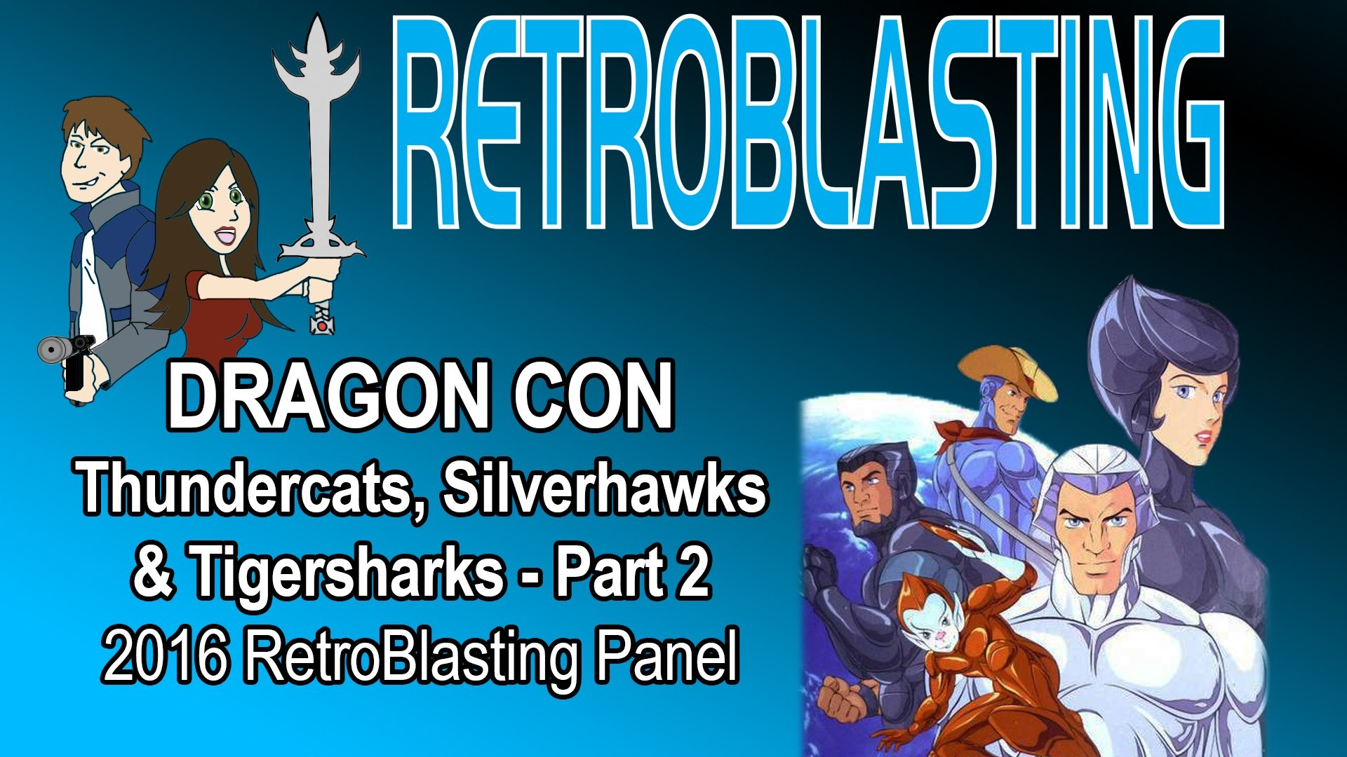 Res: 1920x1080, DragonCon 2016 Thundercats Silverhawks RetroBlasting Panel - Part 2/2