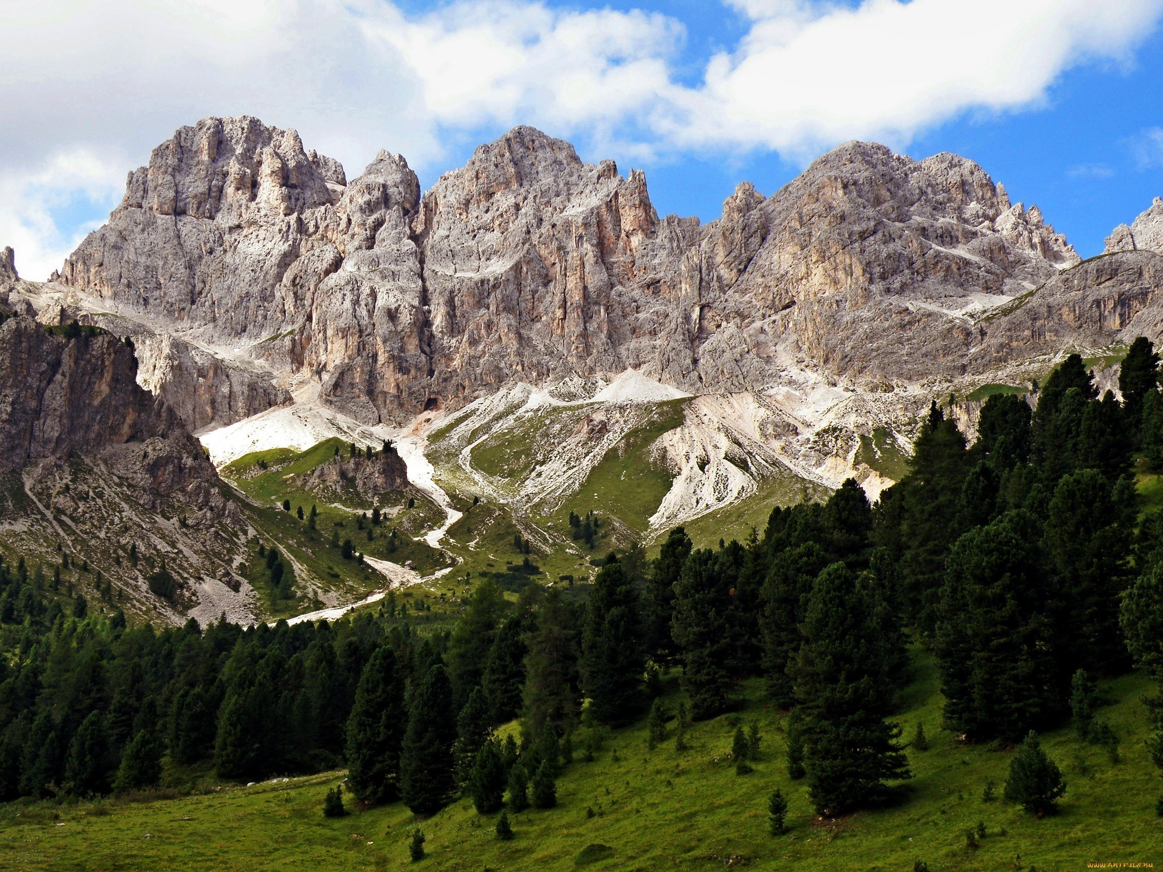 Res: 2304x1728, Mountains landscapes nature italy alps wallpaper