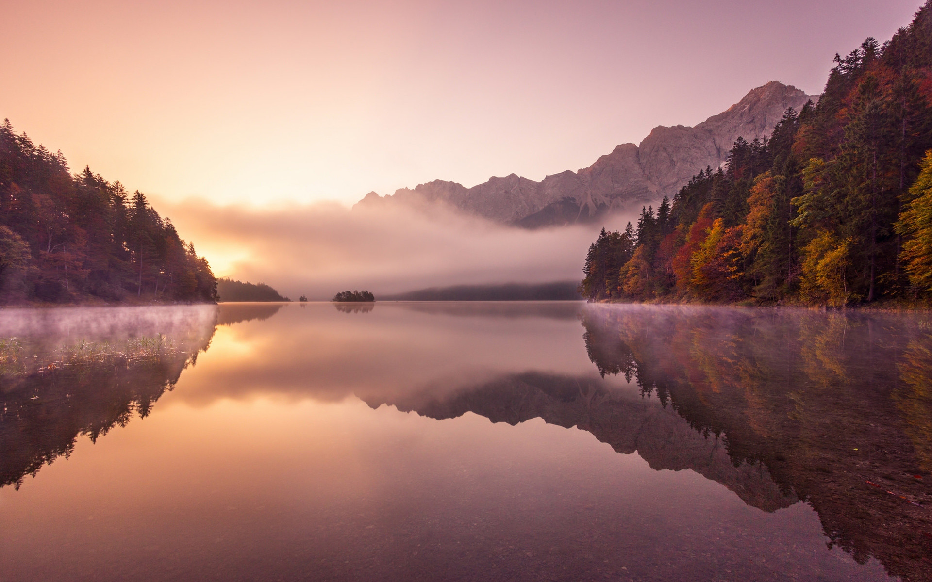 Res: 1920x1200, German Alps Autumn Fog HD Wallpapers