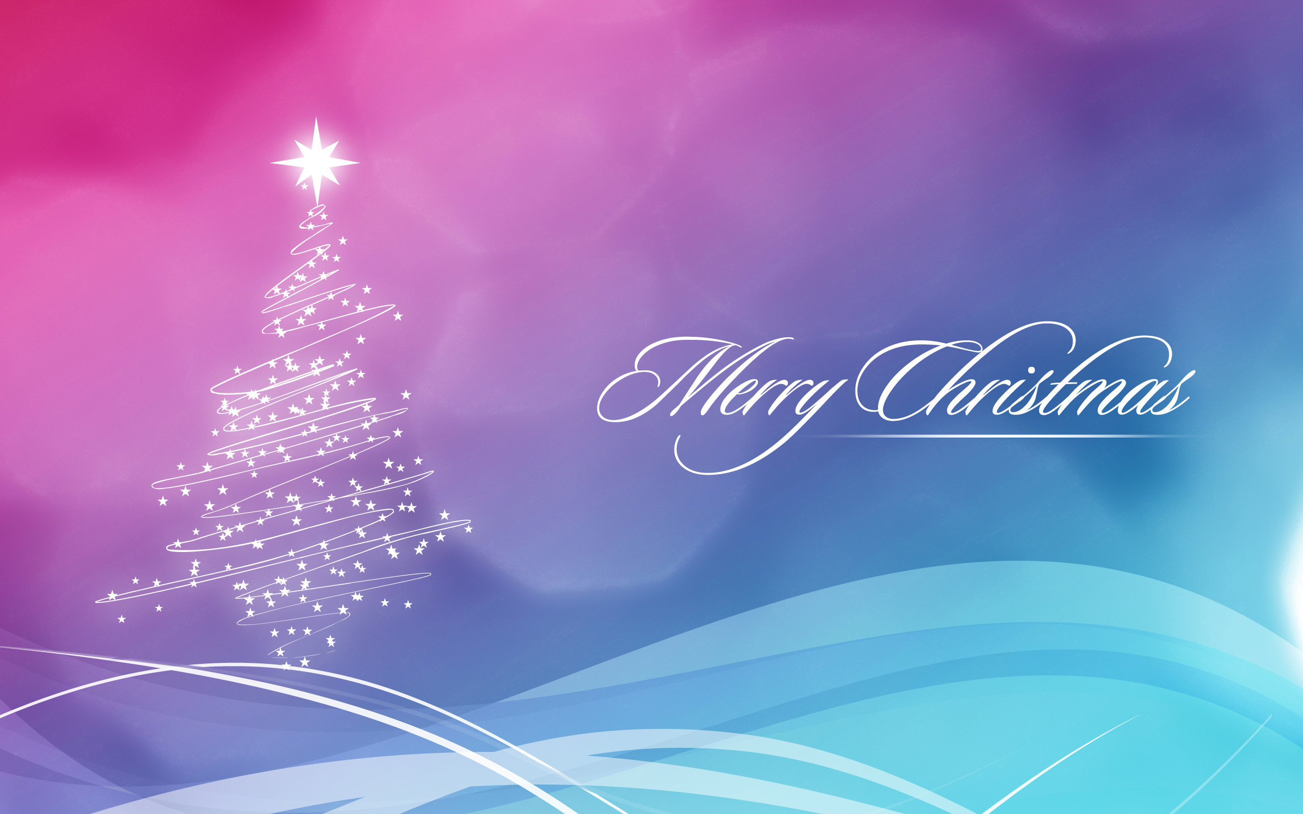 Res: 2560x1600,  Bild: Blau und Pink Christmas Wallpaper wallpapers and stock  photos. Â«