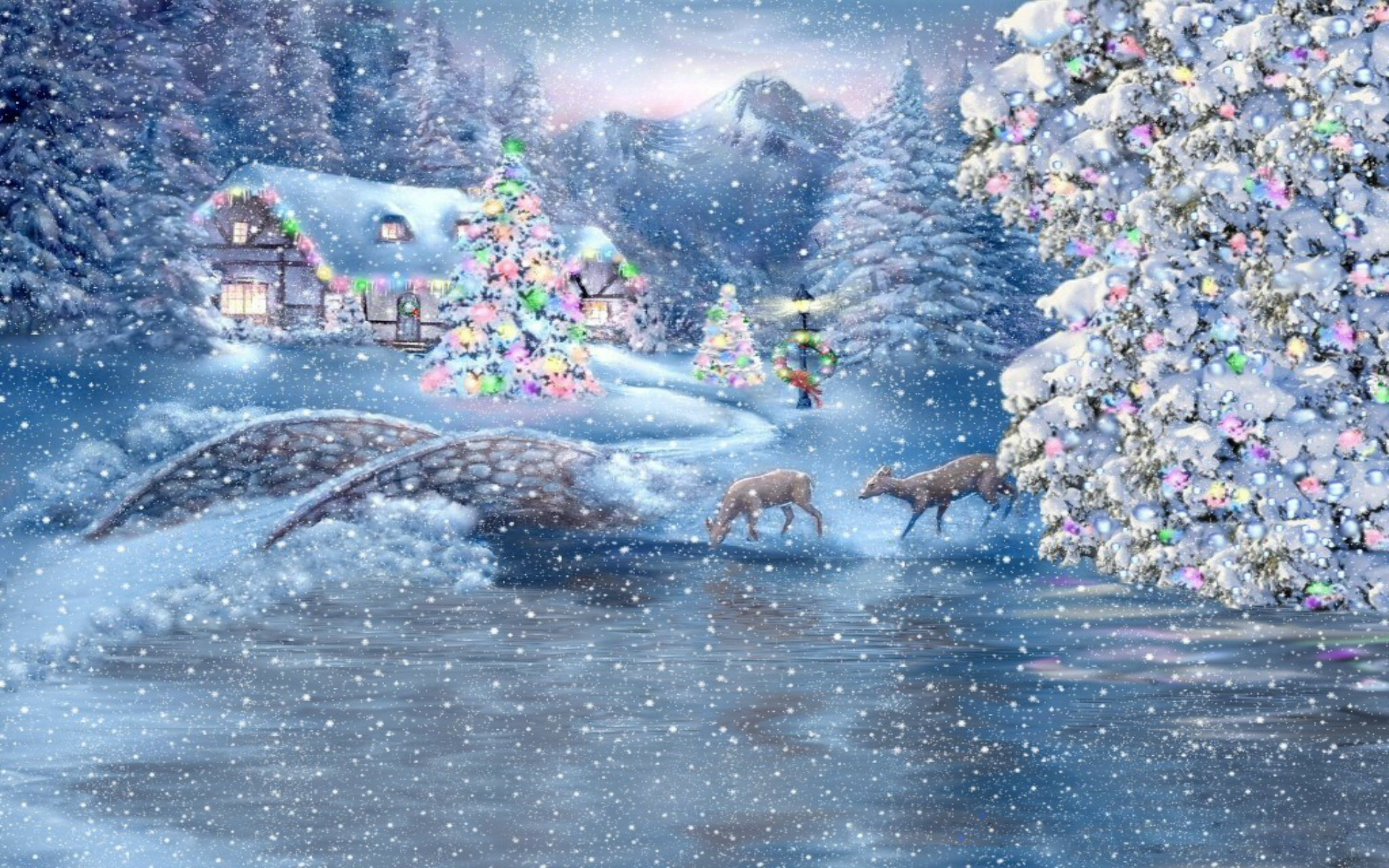 Res: 1920x1200, ... wallpaper Purple &- Pink Decorated Christmas Tree - Very Pretty!