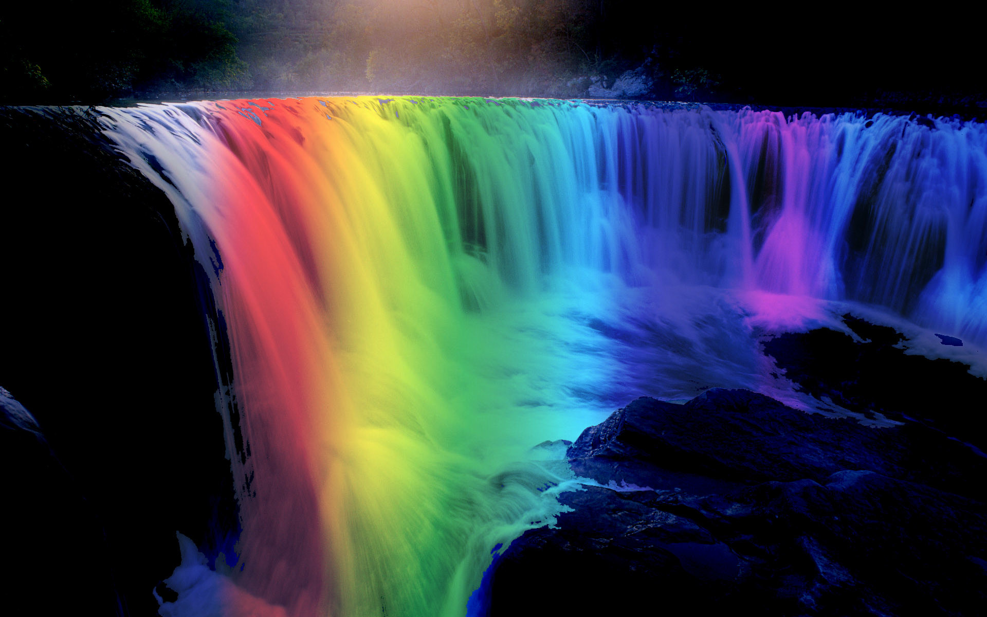 Res: 1920x1200, Waterfall And Rainbow Image
