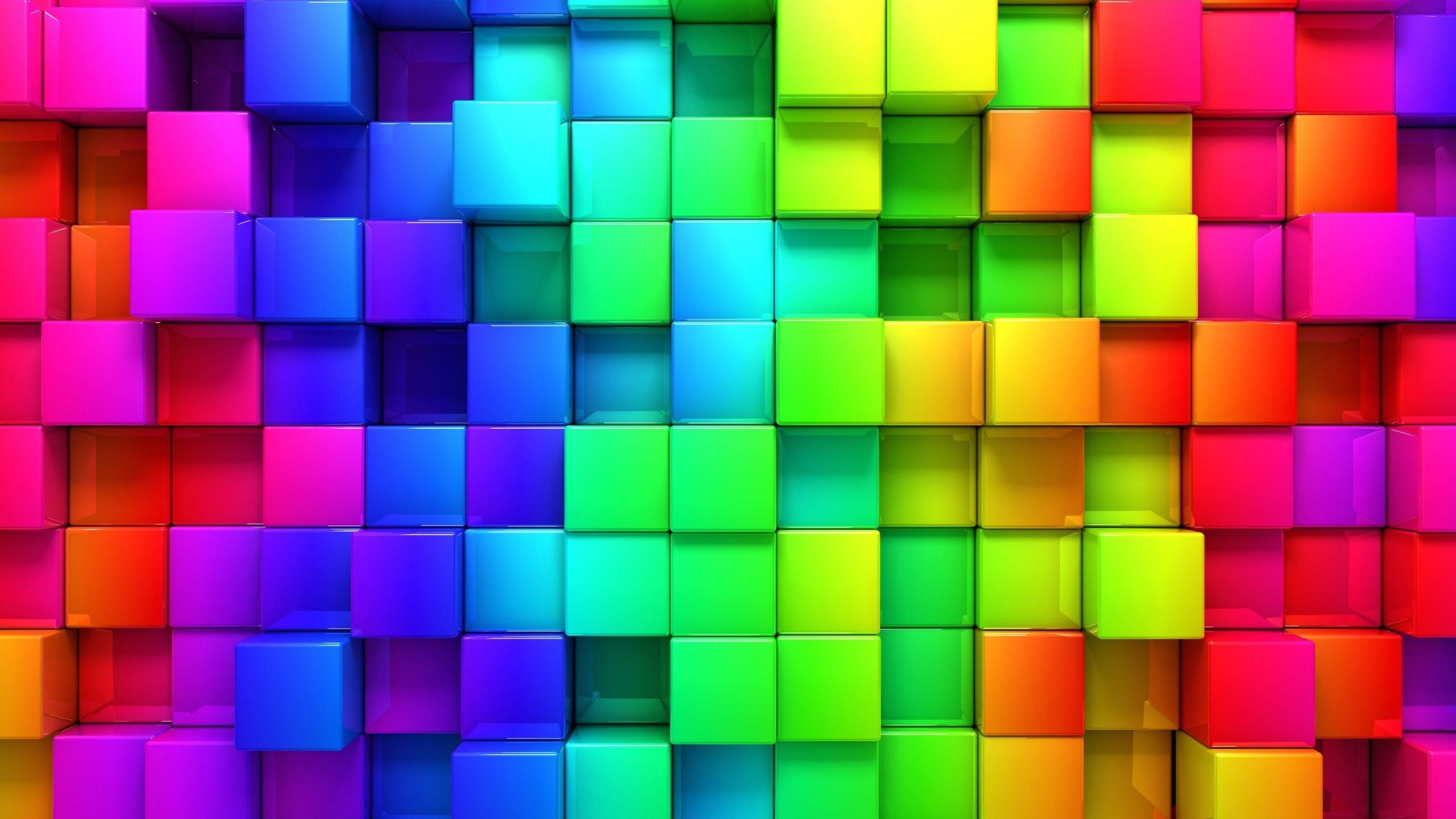 Res: 2560x1440, cubic-rainbow-wallpaper-for--62-384.jpg (
