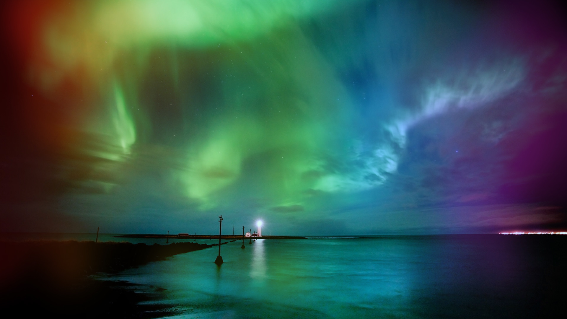Res: 1920x1080, Real Aurora Borealis Rainbow Wallpaper