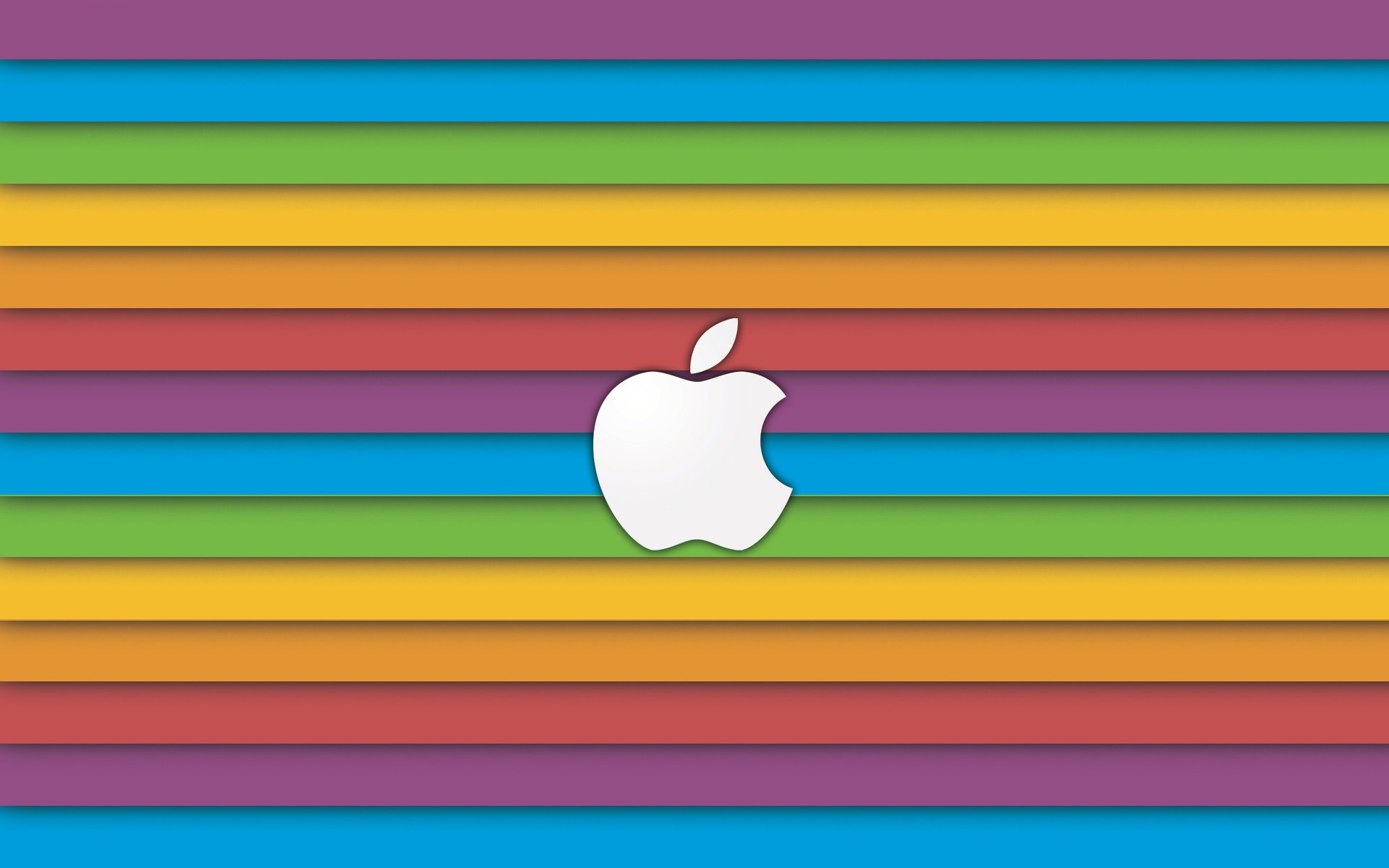 Res: 1920x1200, Apple Rainbow Wallpaper Wide