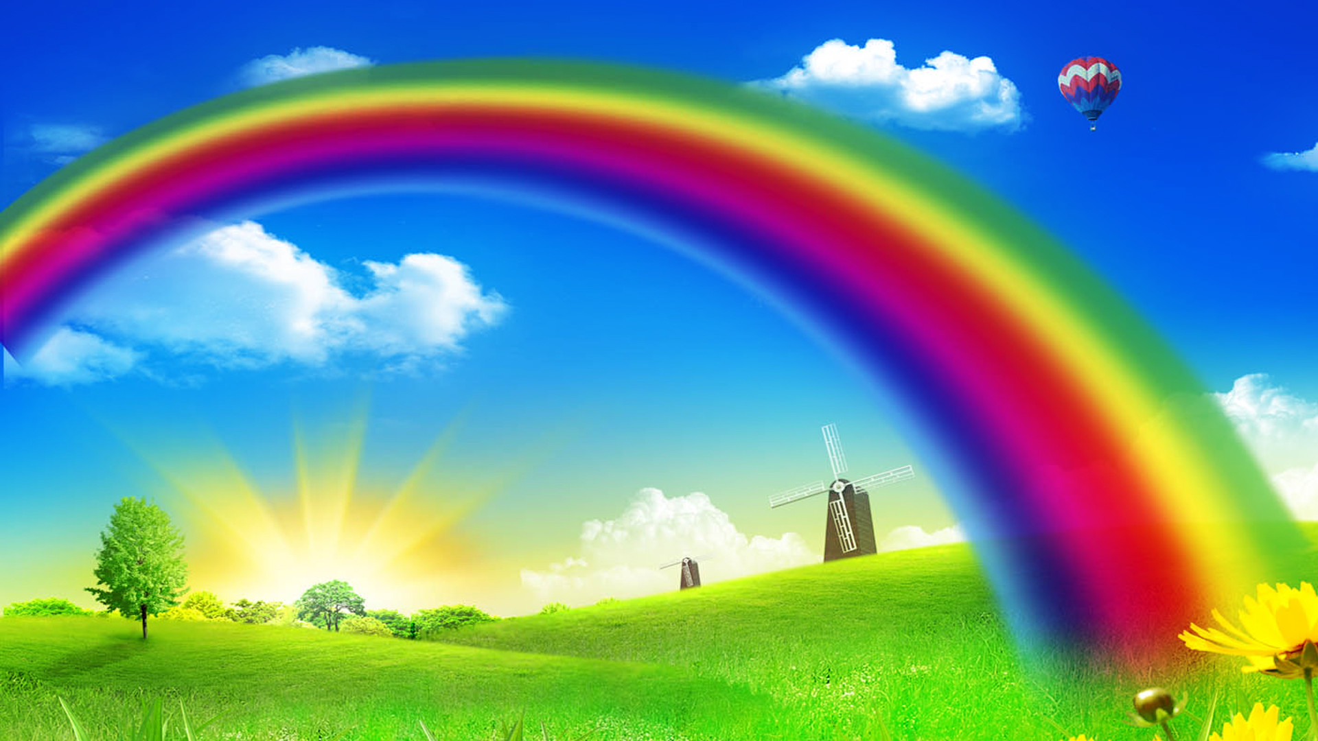 Res: 1920x1080, Rainbow Wallpaper