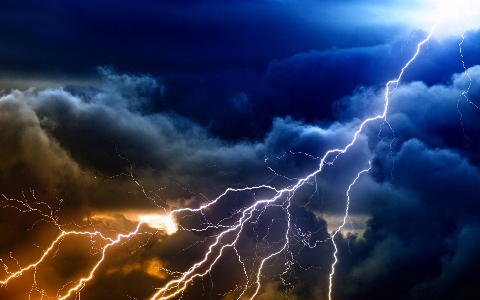 Res: 1920x1200, Lightning Sky Rain Nature Storm Clouds Thunderstorm Hd Wallpaper For  Android Phone