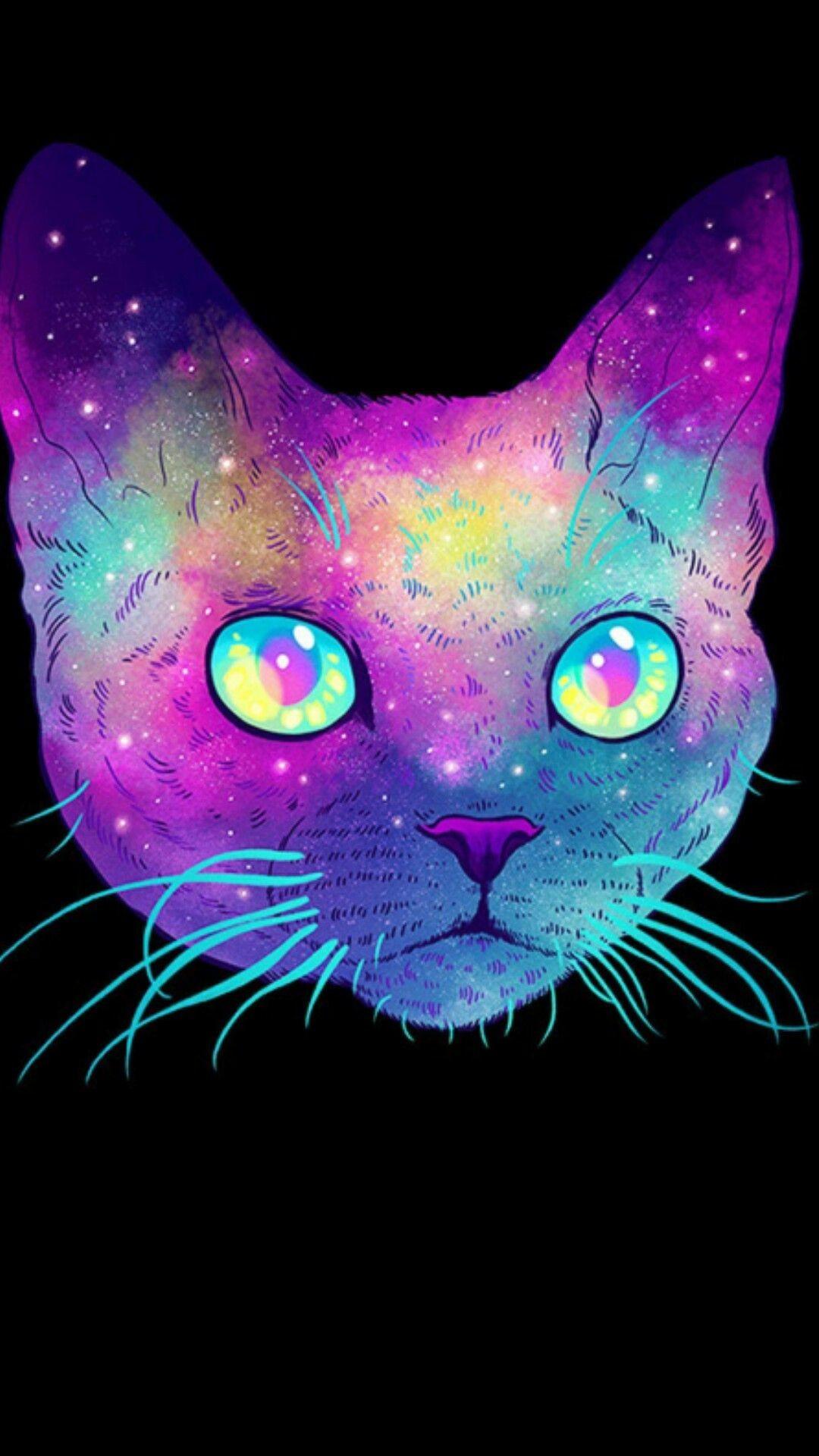 Res: 1080x1920, Cosmic cat #2