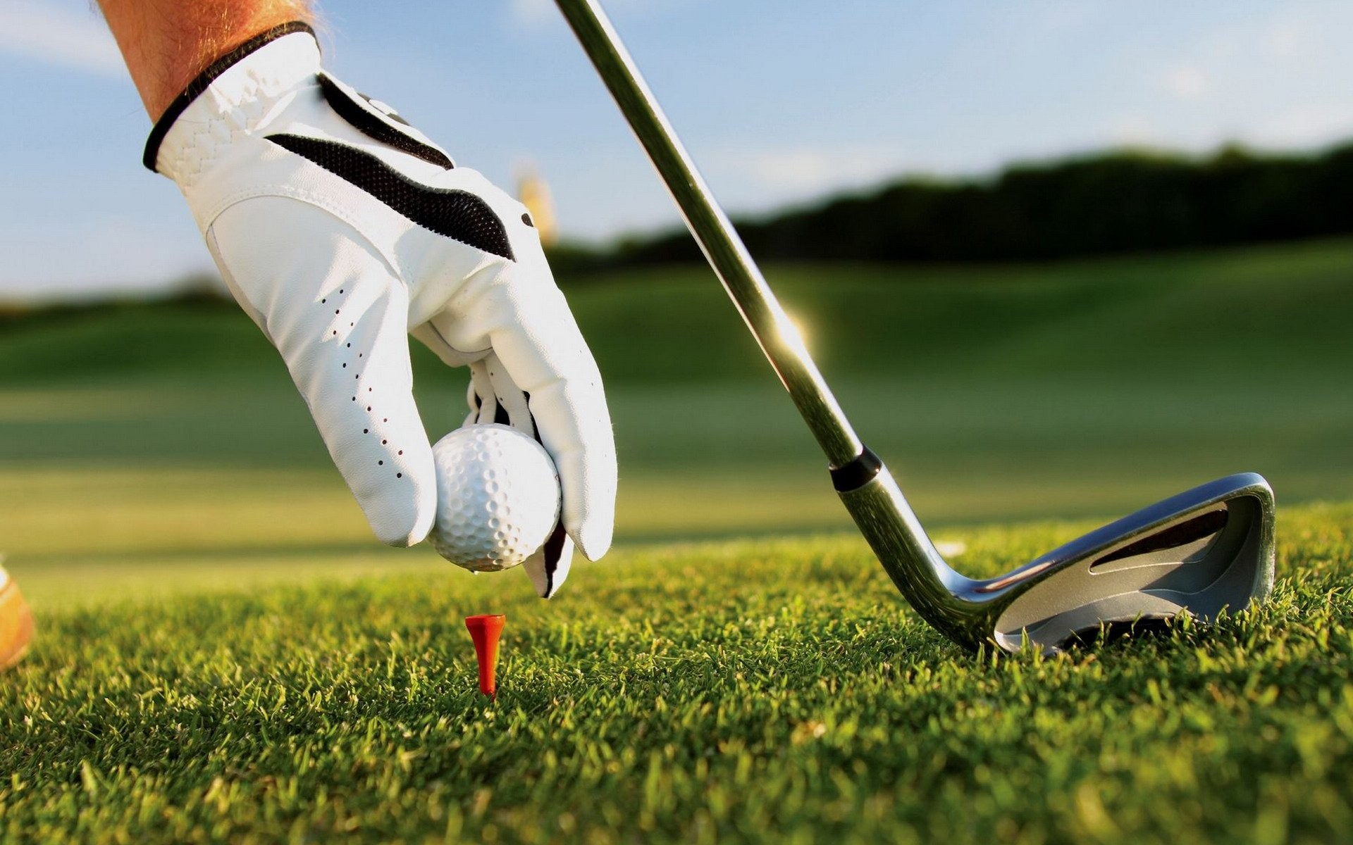Res: 1920x1200, Sports - Golf Hand Glove Golf Club Golf Ball Tee Wallpaper