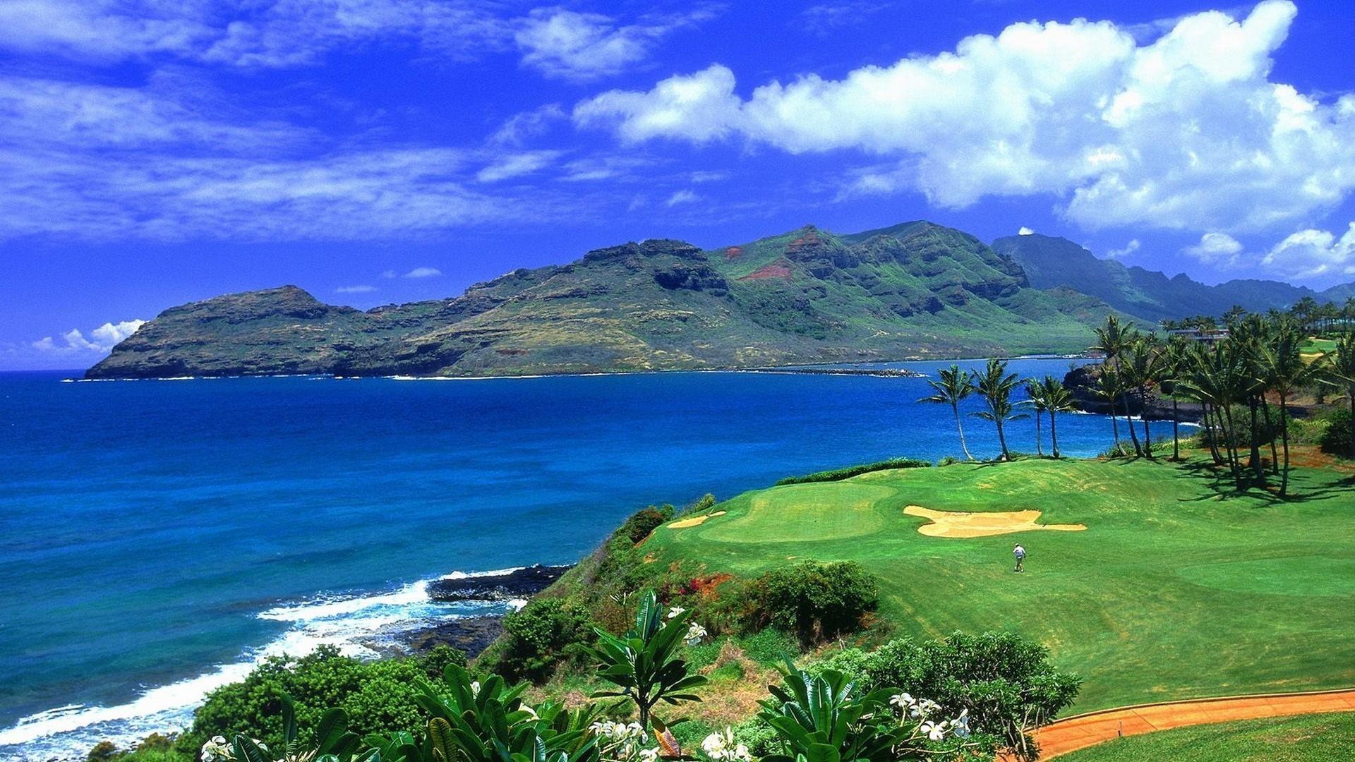 Res: 1920x1080, Hawaii golf wallpaper