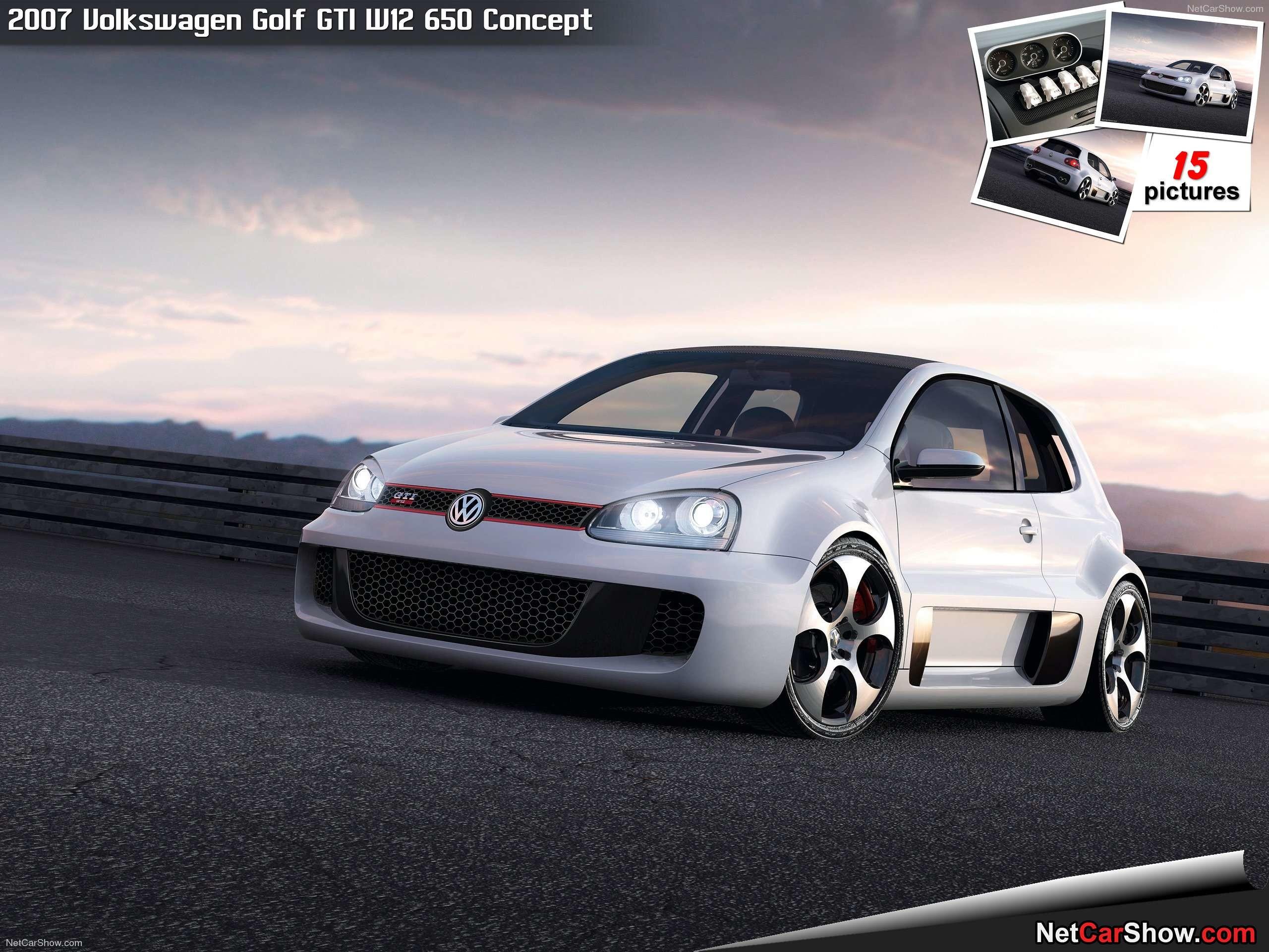 Res: 2560x1920, Volkswagen Golf GTI W12 650 Concept (2007)