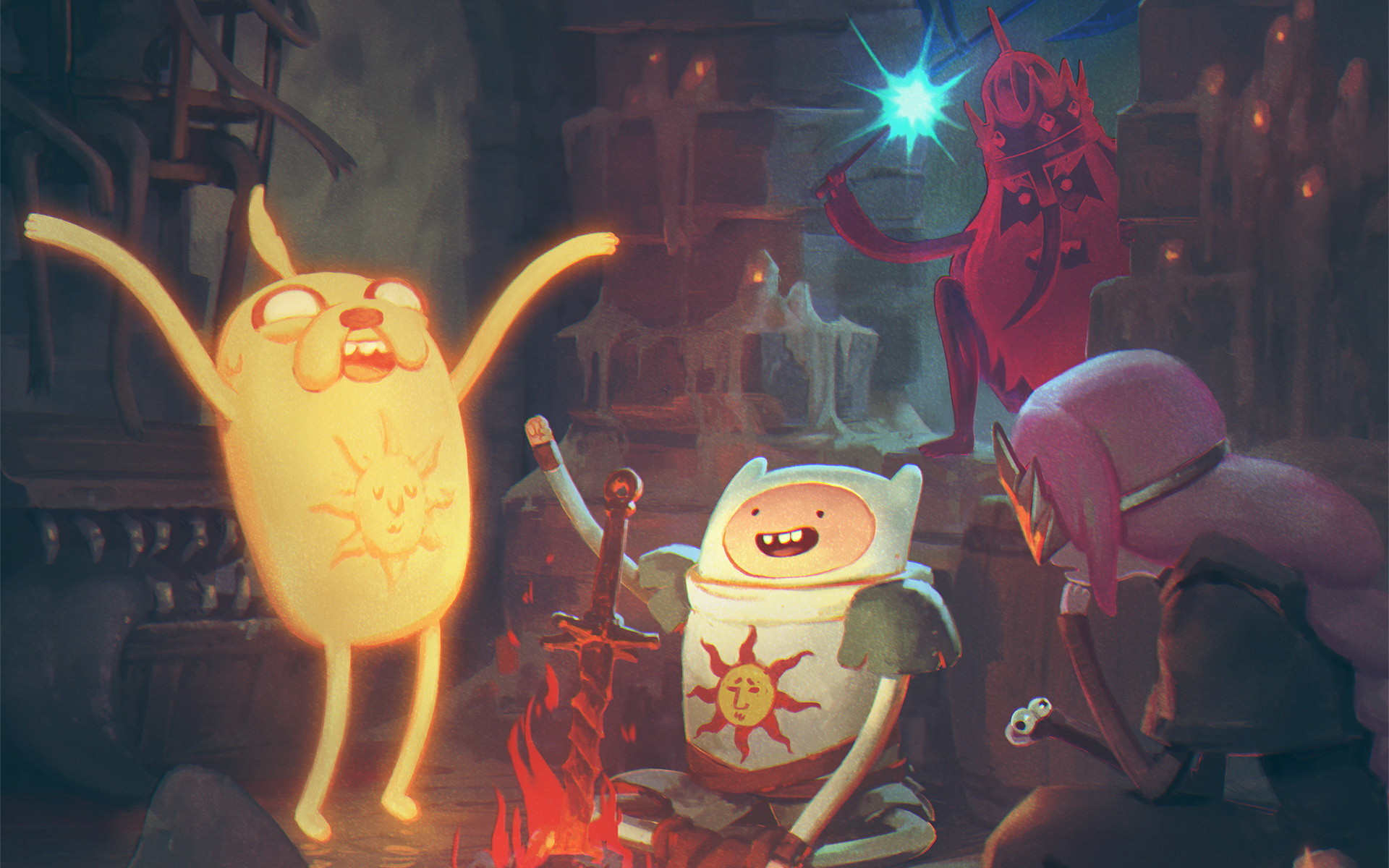 Res: 1920x1200, TV Show Wallpapers (Official & Custom) 040 Adventure Time, Game of Thrones,  Luke Cage, Star Wars Rebels, Stranger Things, Supergirl, the Simpsons & the  X- ...