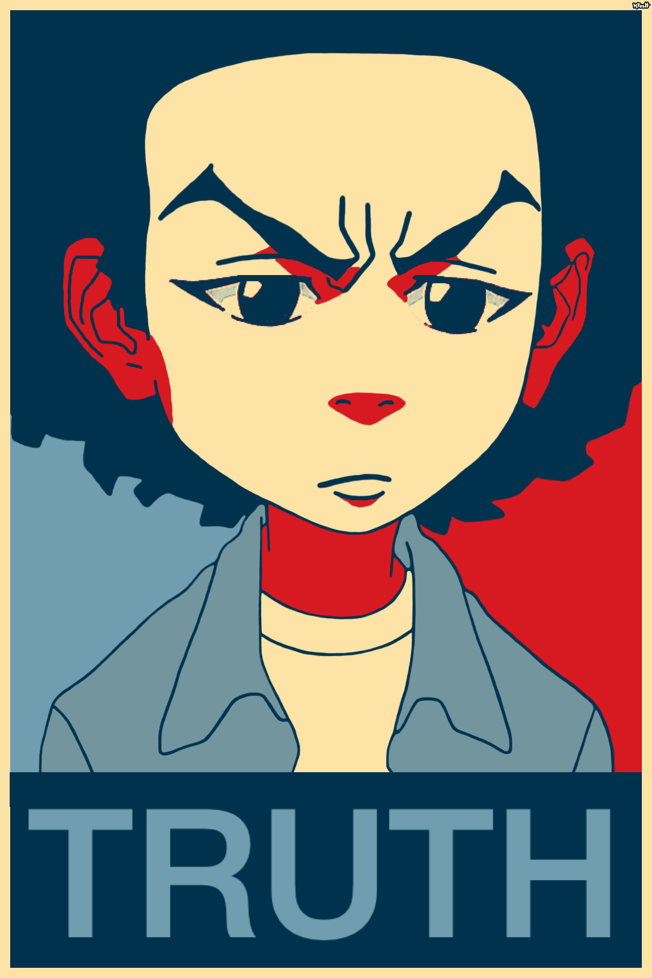 """Res: 1280x1920, Huey Freeman Only Speaks The Truth / The Boondocks — """"What people need is  the"""