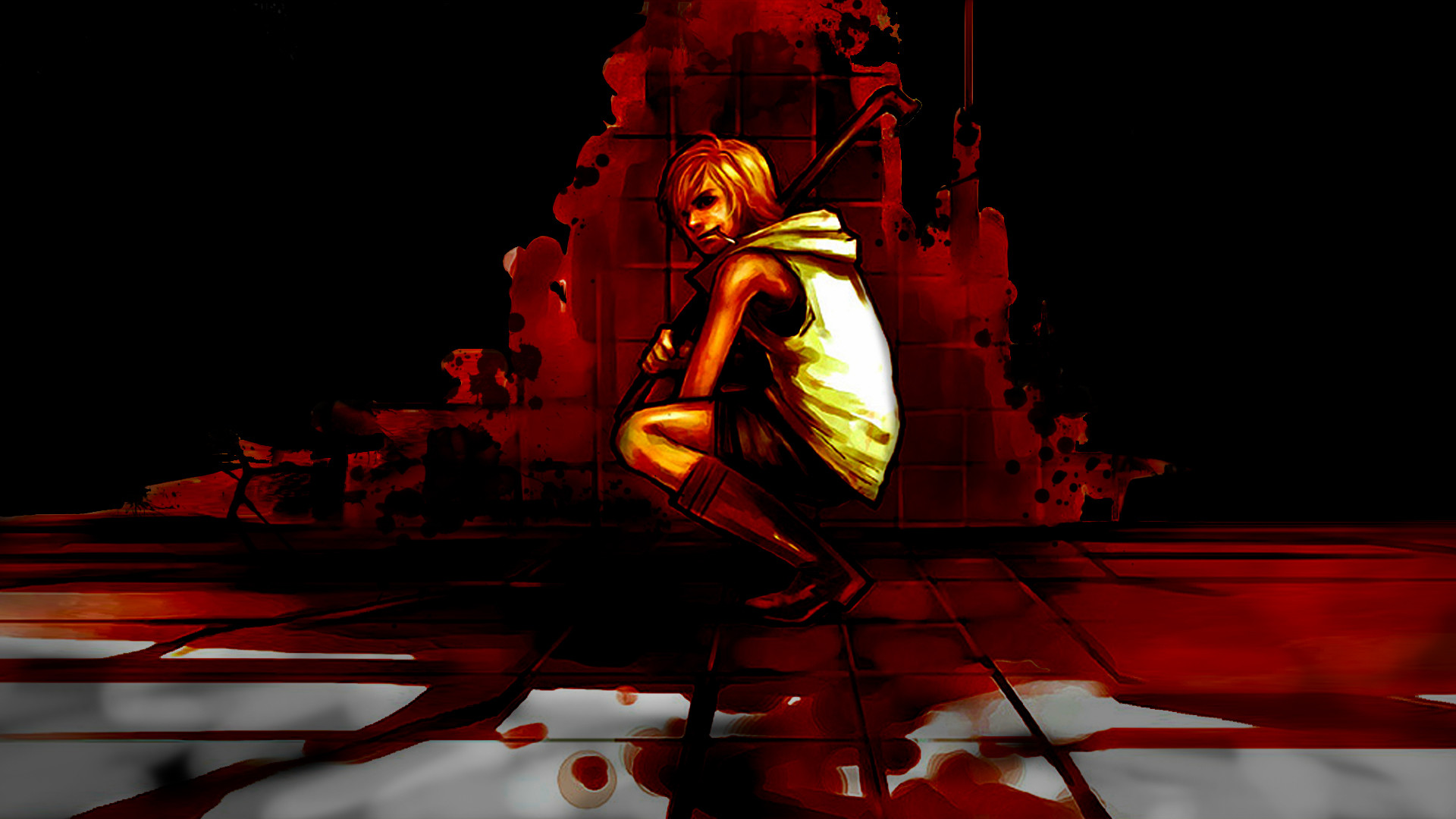 Res: 1920x1080, Silent Hill 3 Bloody Wallpaper v1.0 by Razpootin