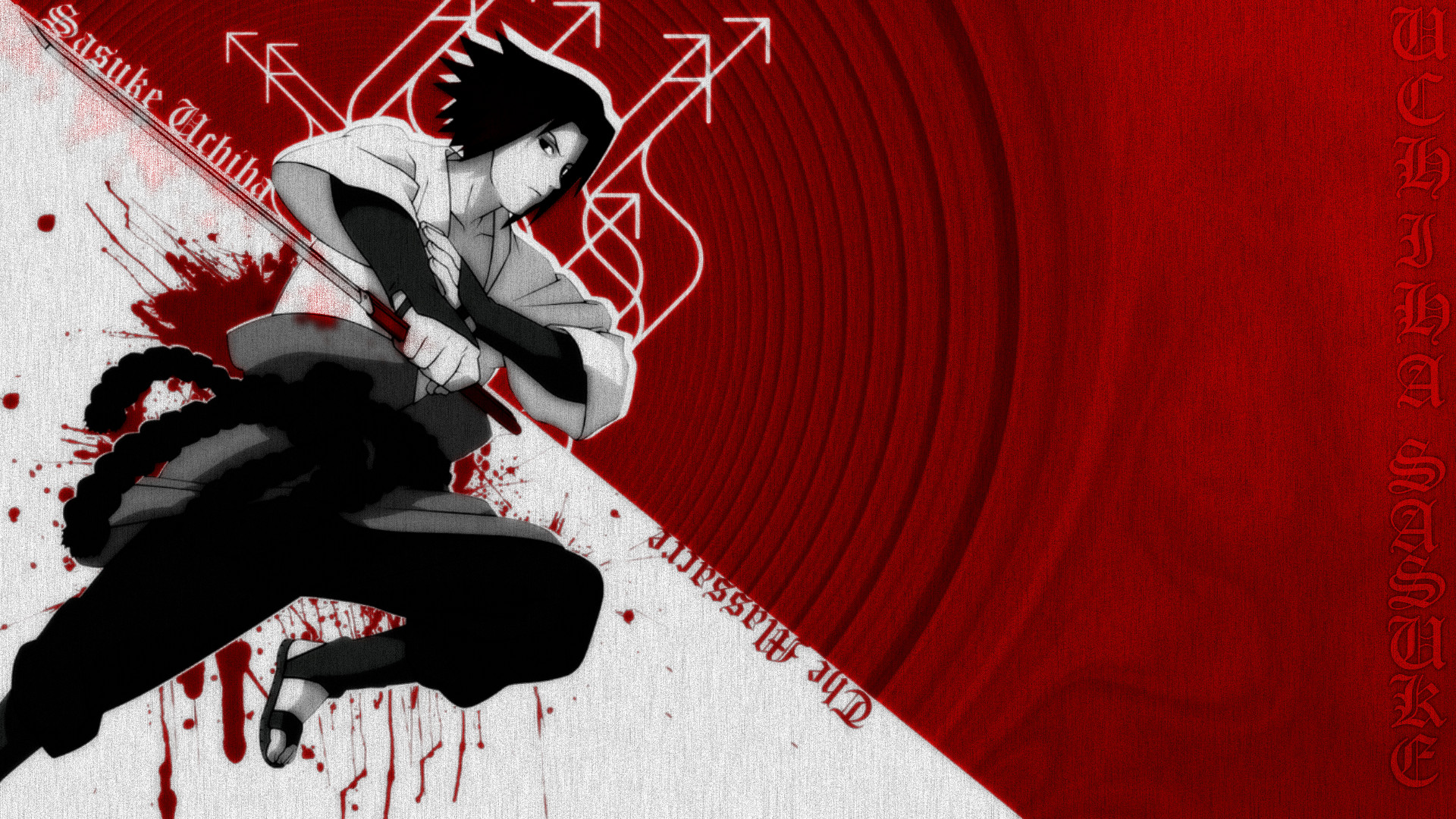 Res: 1920x1080, Sasuke Wallpaper by Mod-a-holic