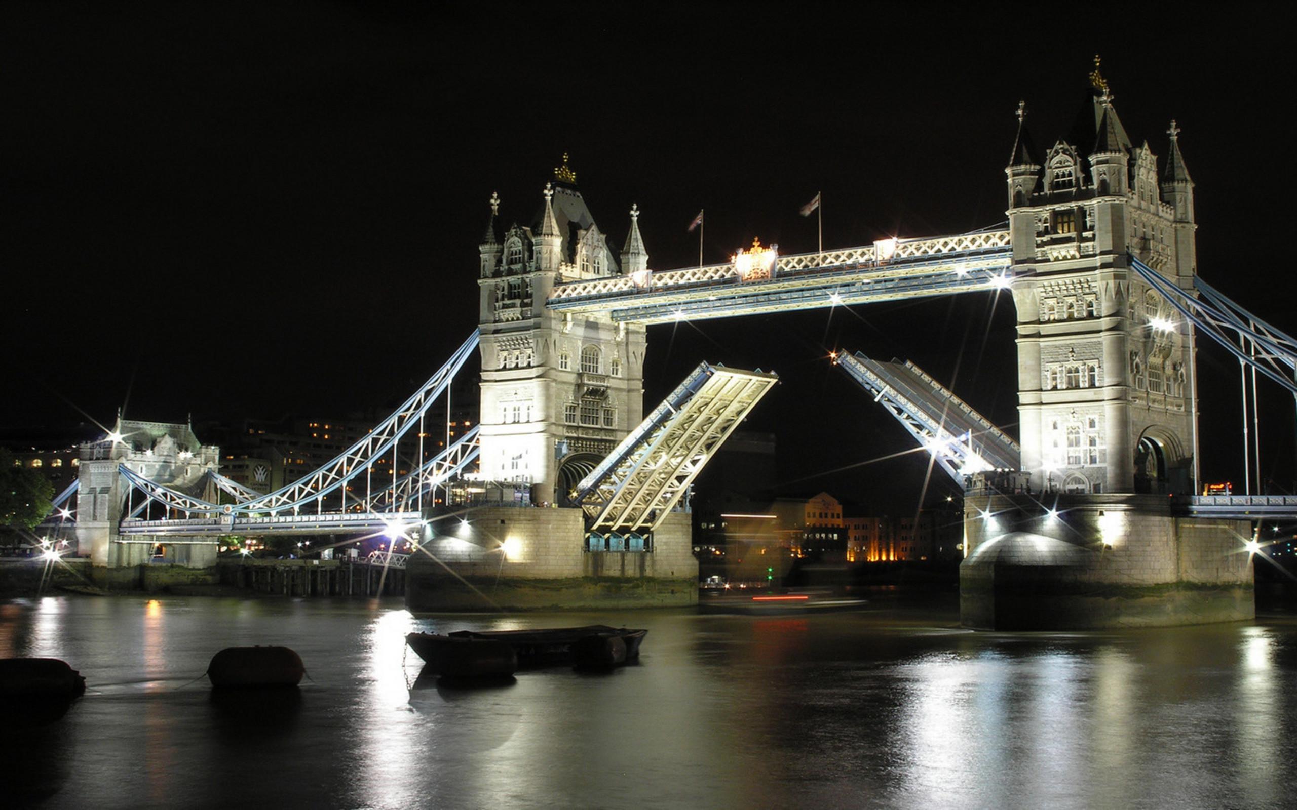 Res: 2560x1600, Menschengemacht - Tower Bridge London Night Wallpaper