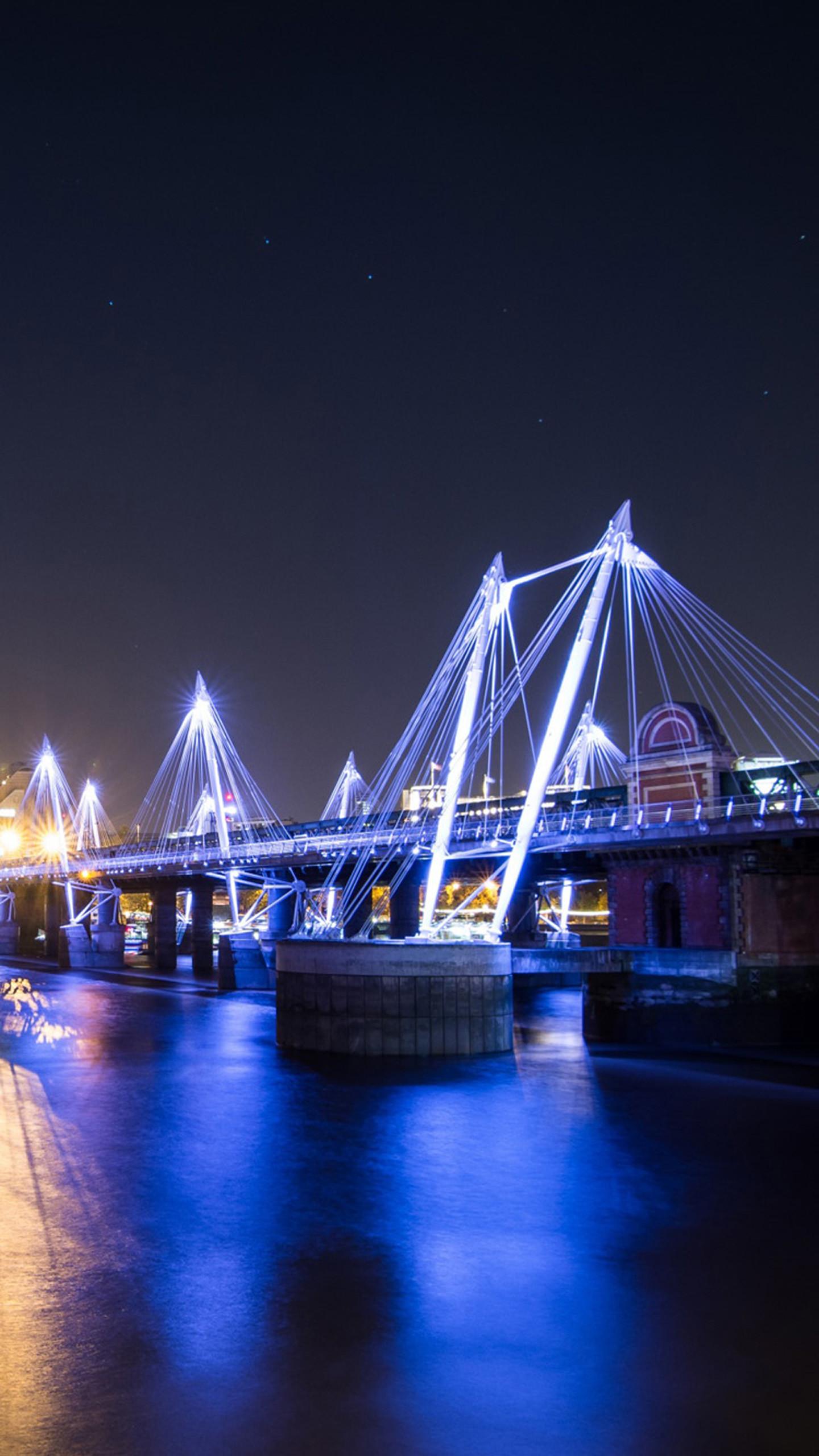 Res: 1440x2560, London Bridge at night Galaxy S8 Wallpapers