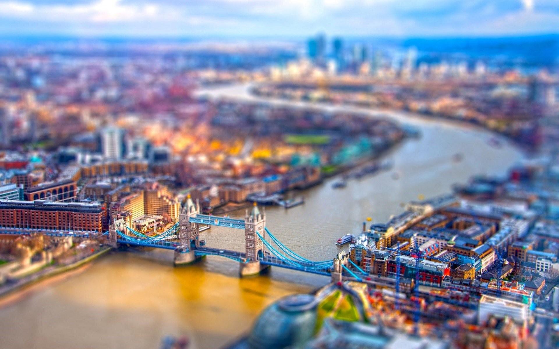 Res: 1920x1200, london uk river thames river bridge tower bridge tilt shift cityscape city  wallpaper and background