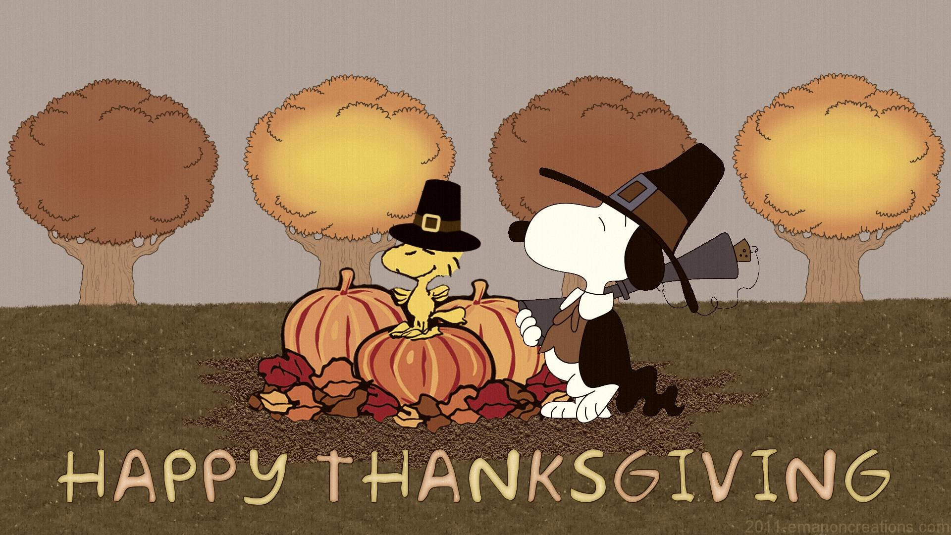 Res: 1920x1080, Snoopy Thanksgiving Wallpapers - Wallpaper Cave