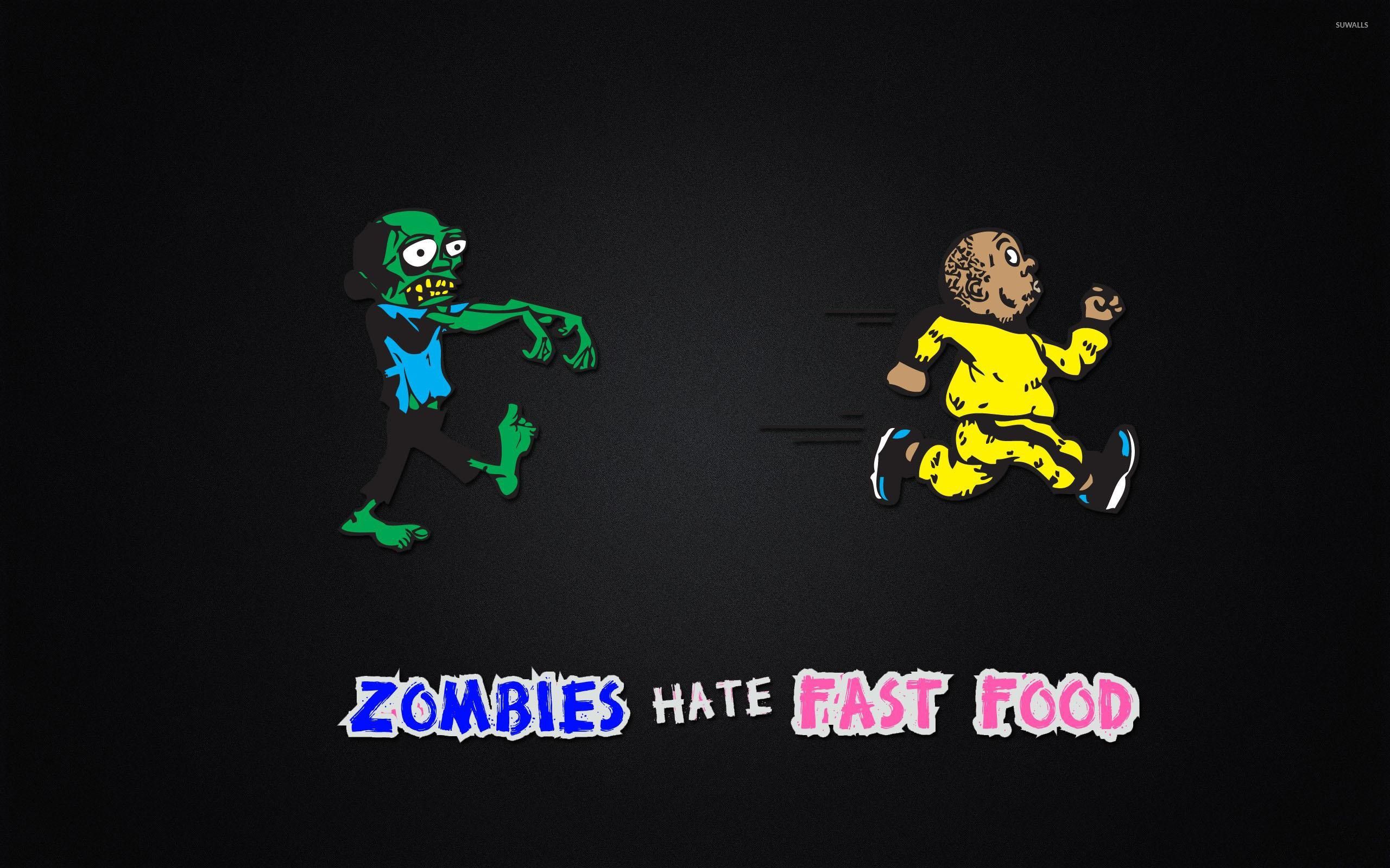 Res: 2560x1600, Zombies hate Fast Food wallpaper