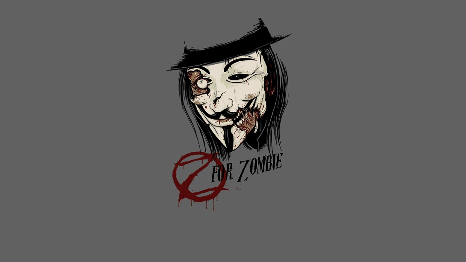 Res: 1920x1080, Minimalistic zombies funny Guy Fawkes artwork wallpaper |  |  260252 | WallpaperUP