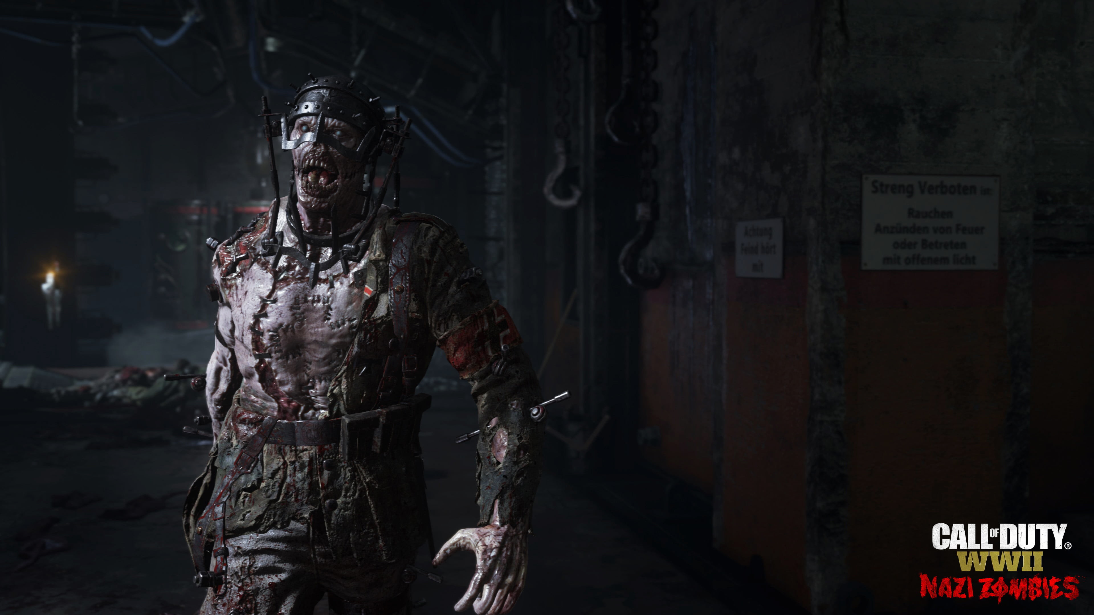 Res: 3840x2160, Call Of Duty WWII Nazi Zombies 4k