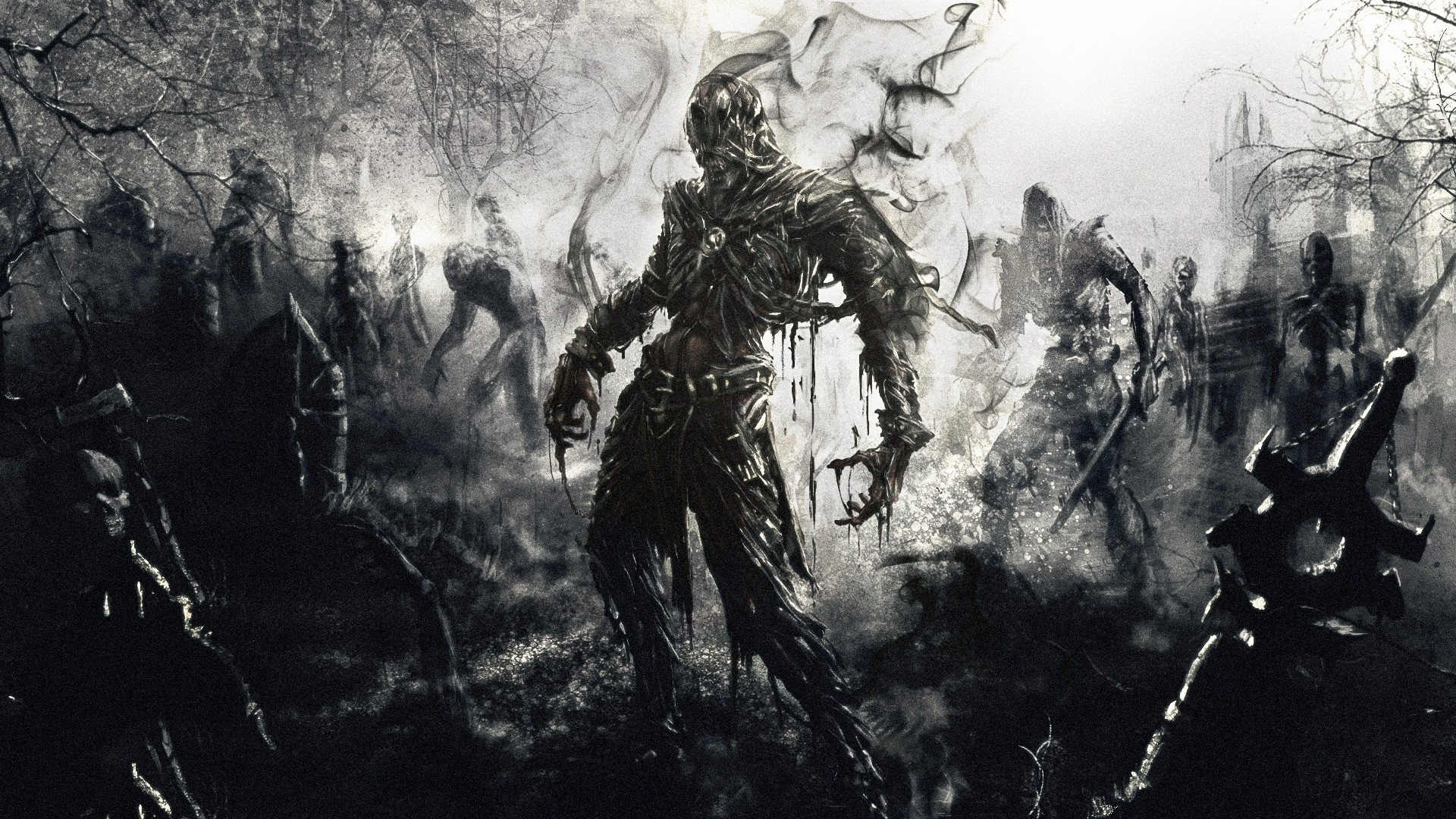 Res: 1920x1080, Download Wallpaper  zombies, fantasy, art Full HD 1080p HD  Background
