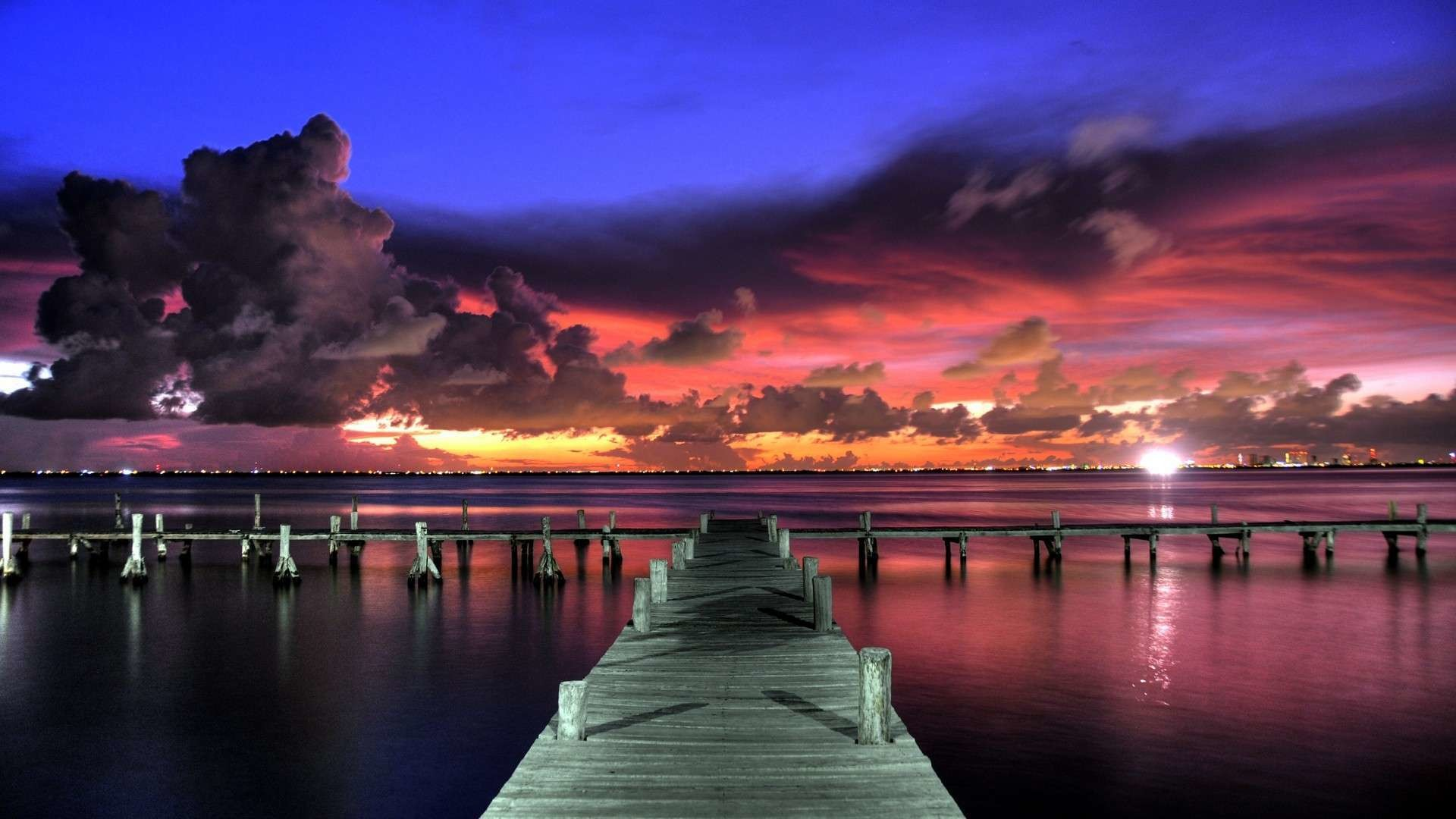 Res: 1920x1080, Impressive Clouds over the Dock HD Wallpaper. « »