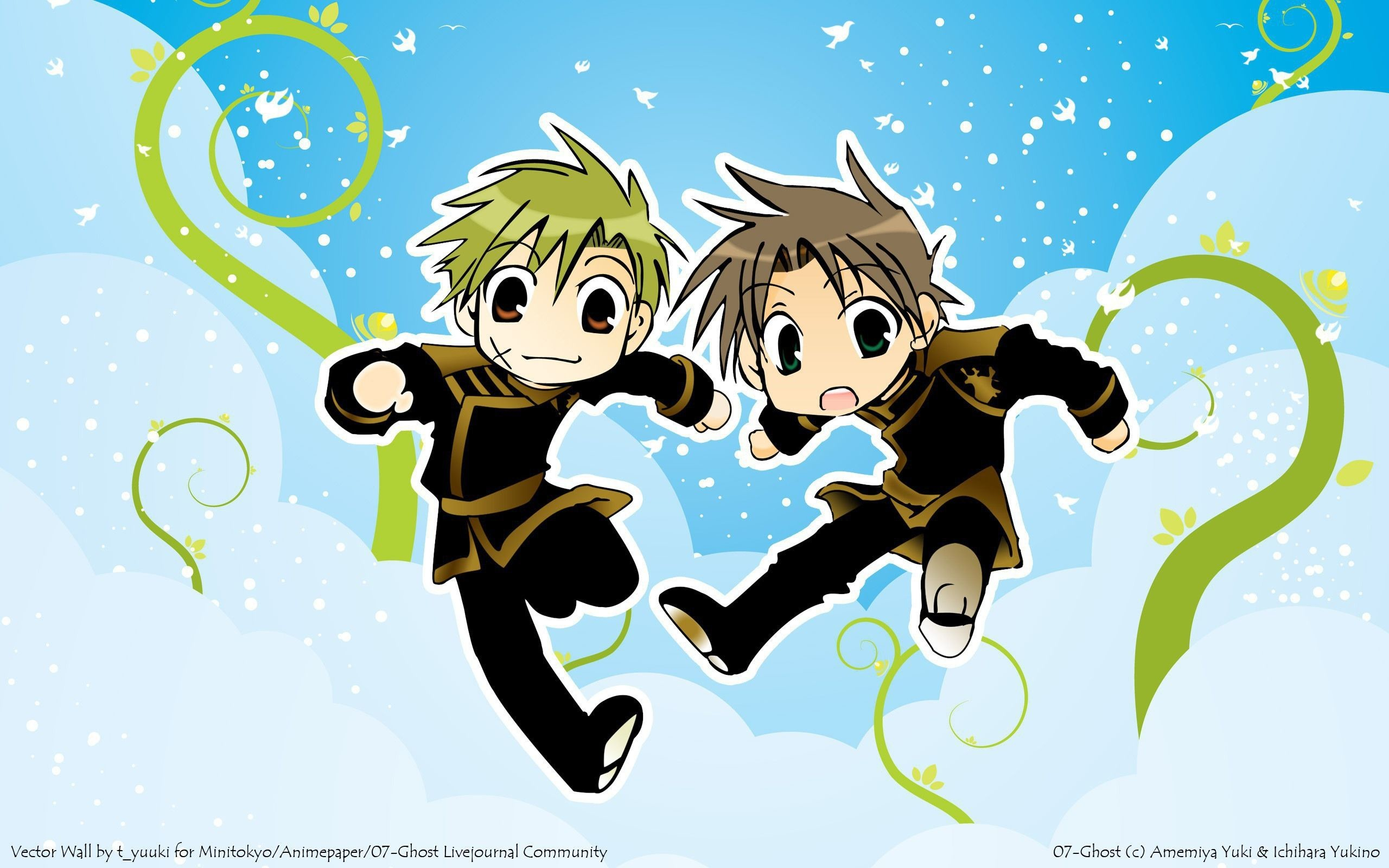 Res: 2560x1600, Tags: Wallpaper, 07-ghost, Teito Klein, Mikage (07-ghost