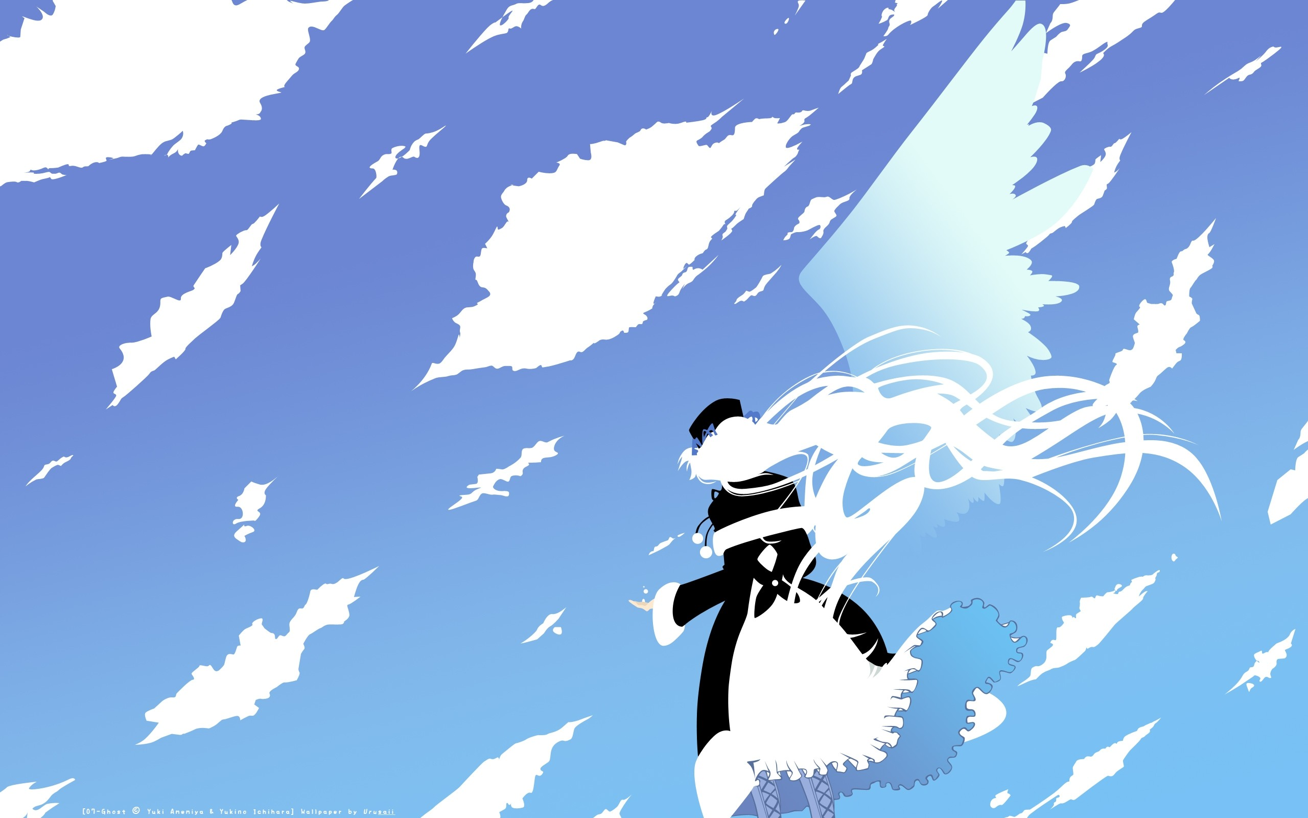 Res: 2560x1600, Gorgeous Animation Girl Flying Sky Picture