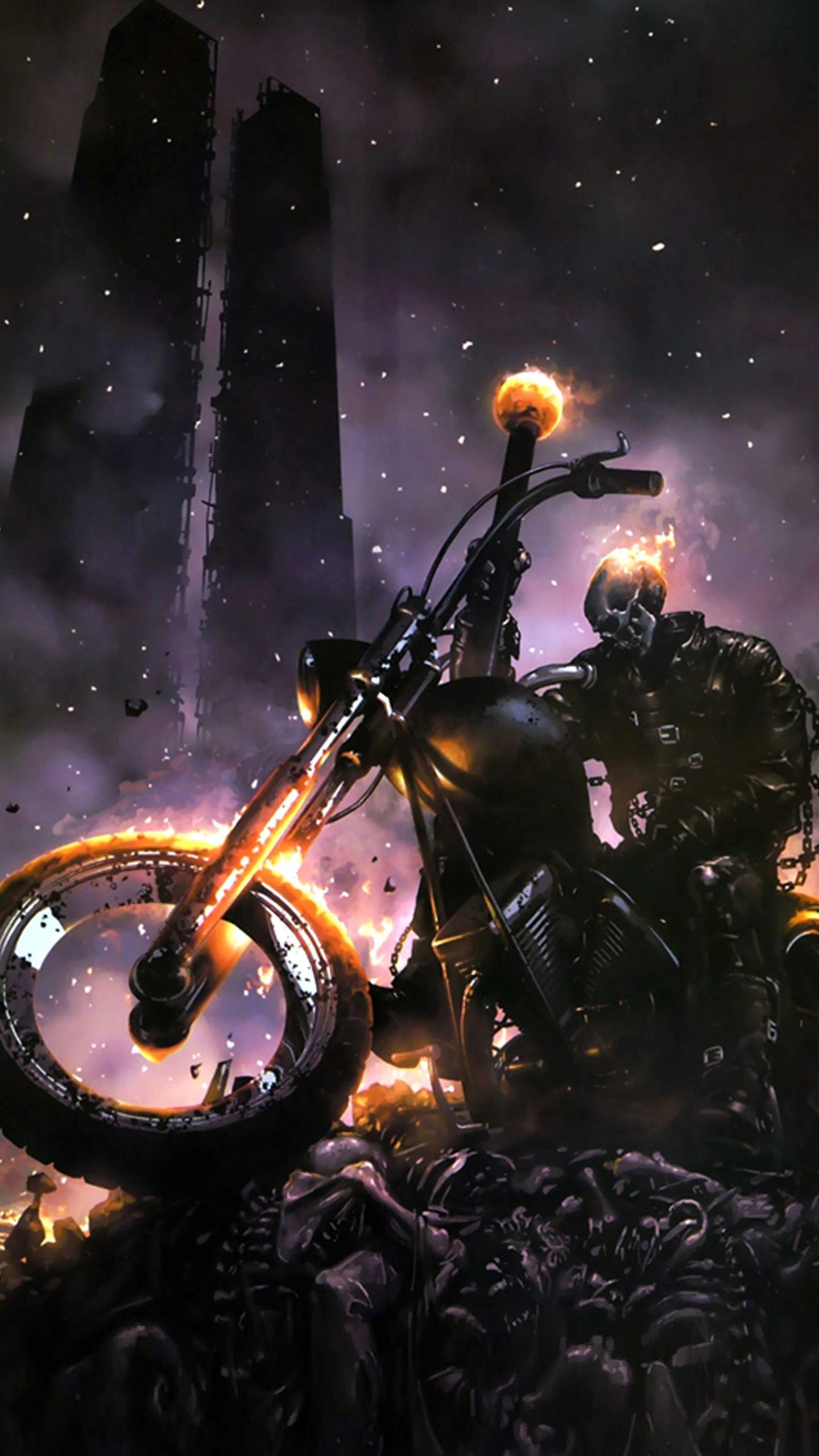Res: 1440x2560, Samsung Galaxy Note 4 Wallpaper: Ghost rider Mobile Android Wallpapers
