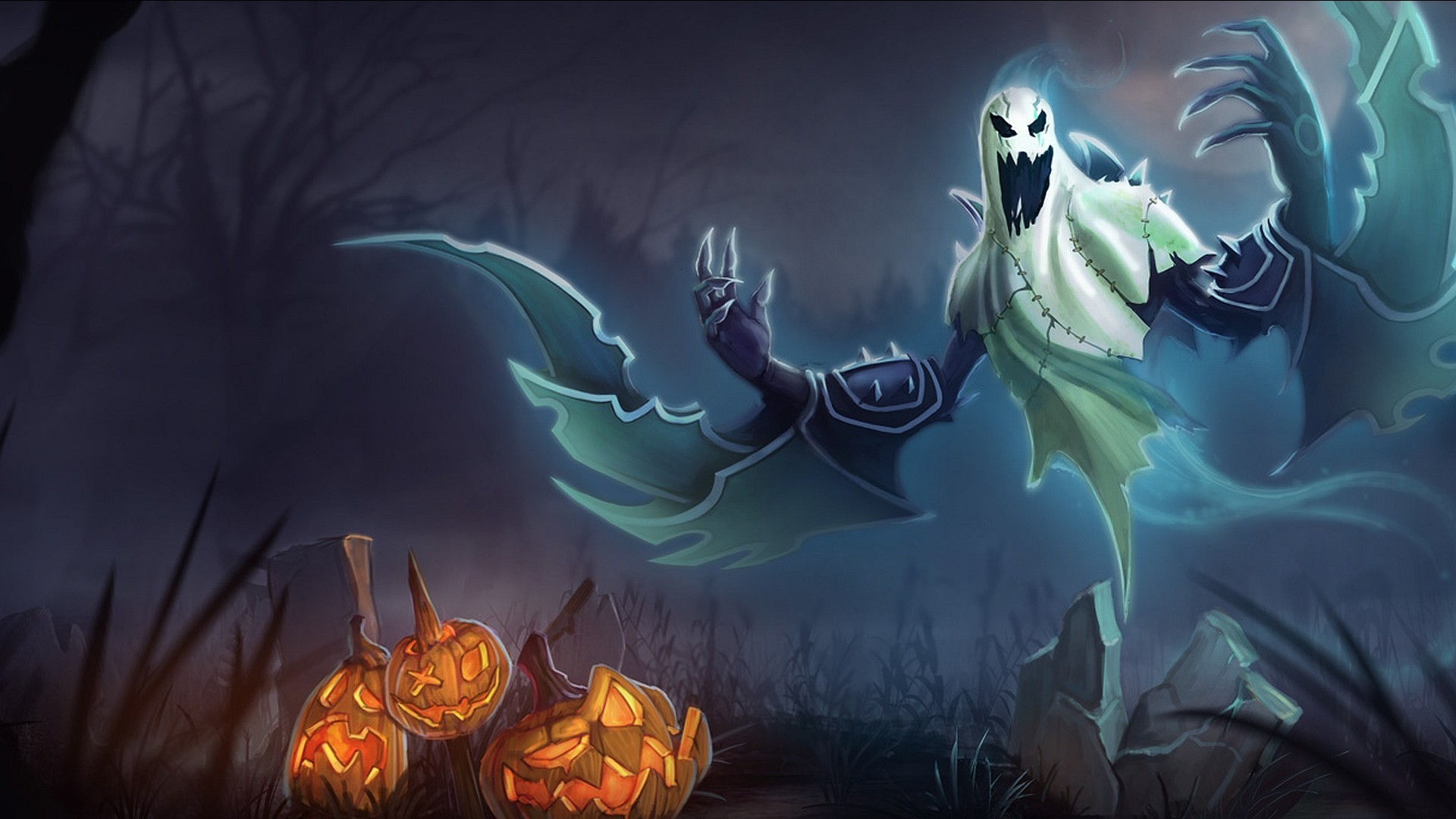 Res: 1920x1080, scary-halloween-ghost-wallpaper-download-free-hd