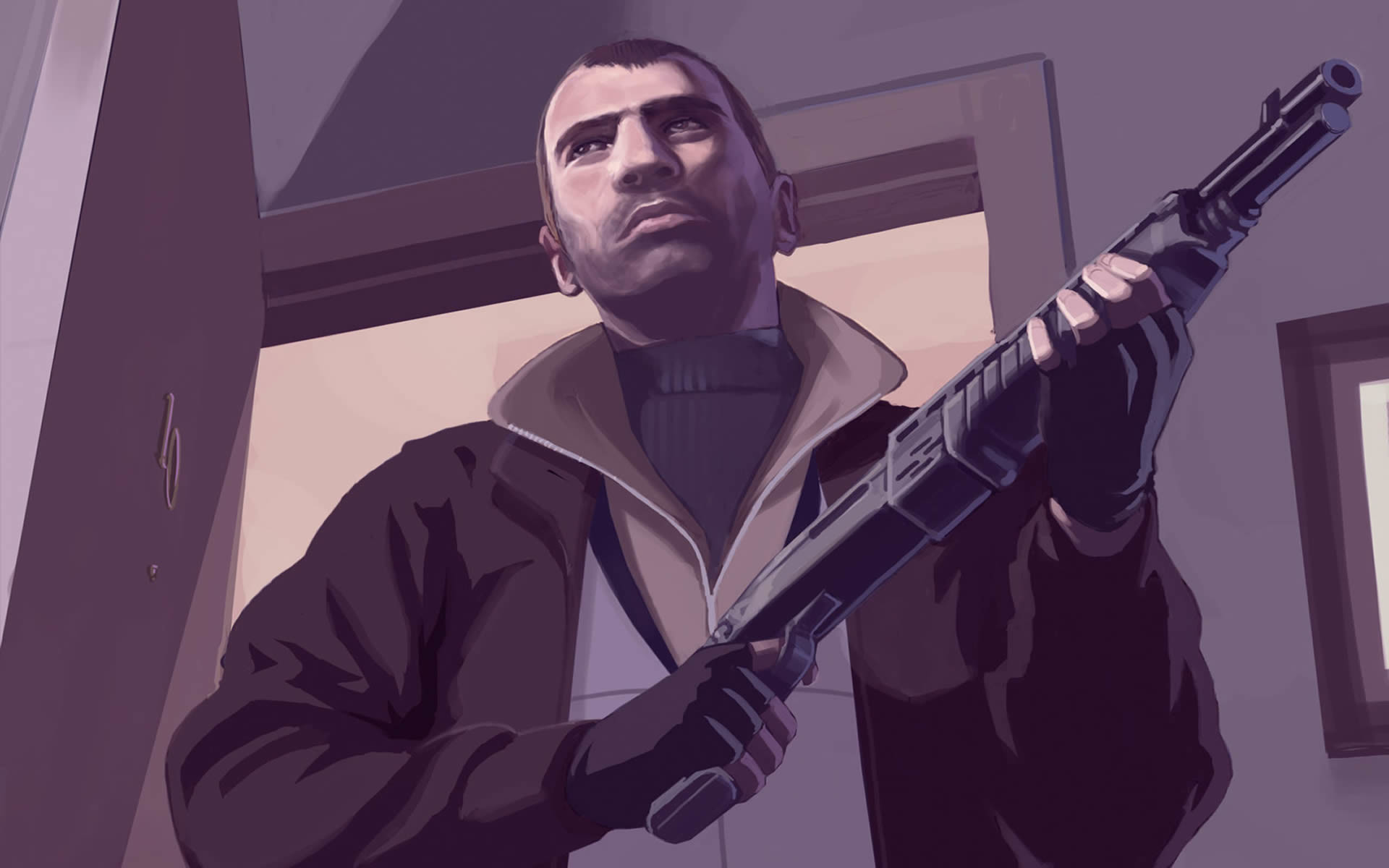 Res: 1920x1200, Niko Bellic With Shotgun