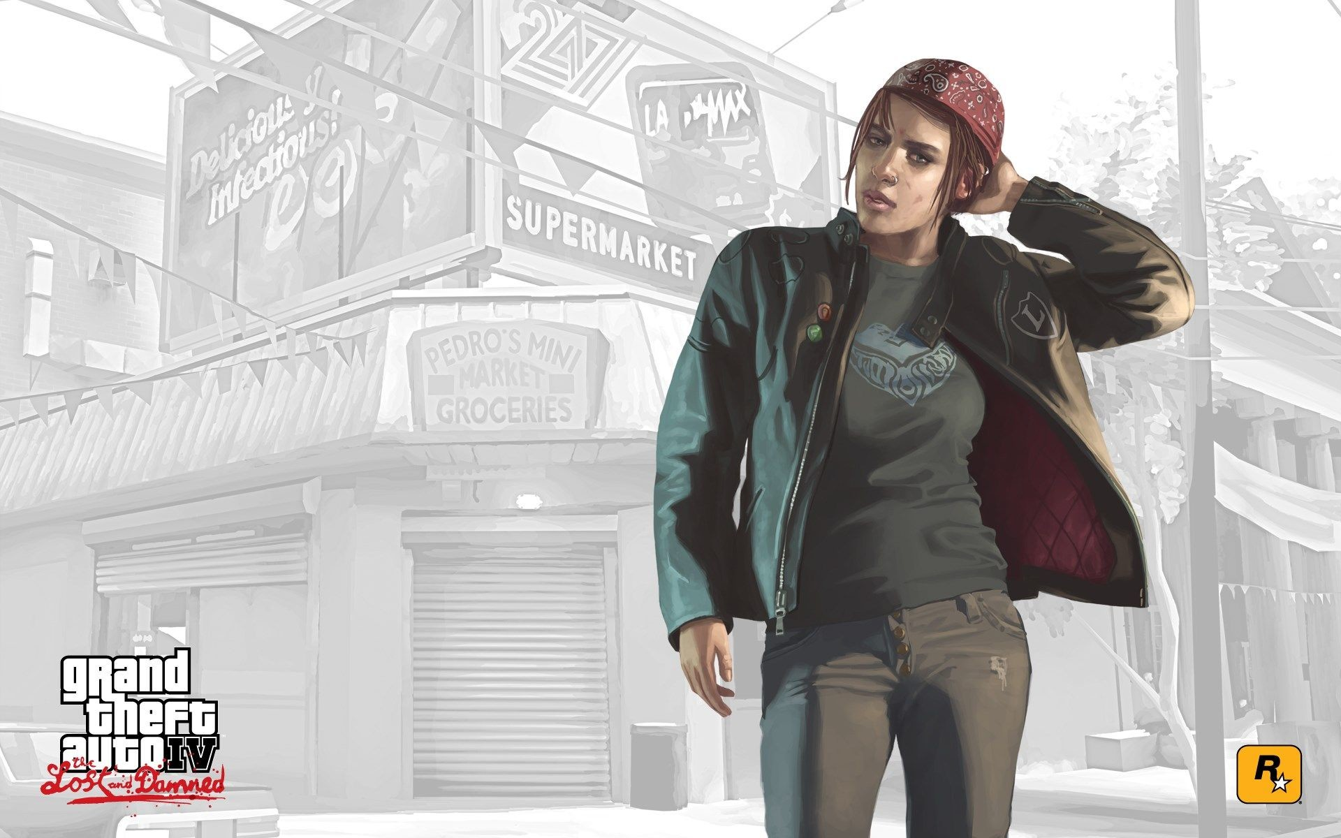 Res: 1920x1200,  Grand Theft Auto IV: The Lost and Damned game wallpaper