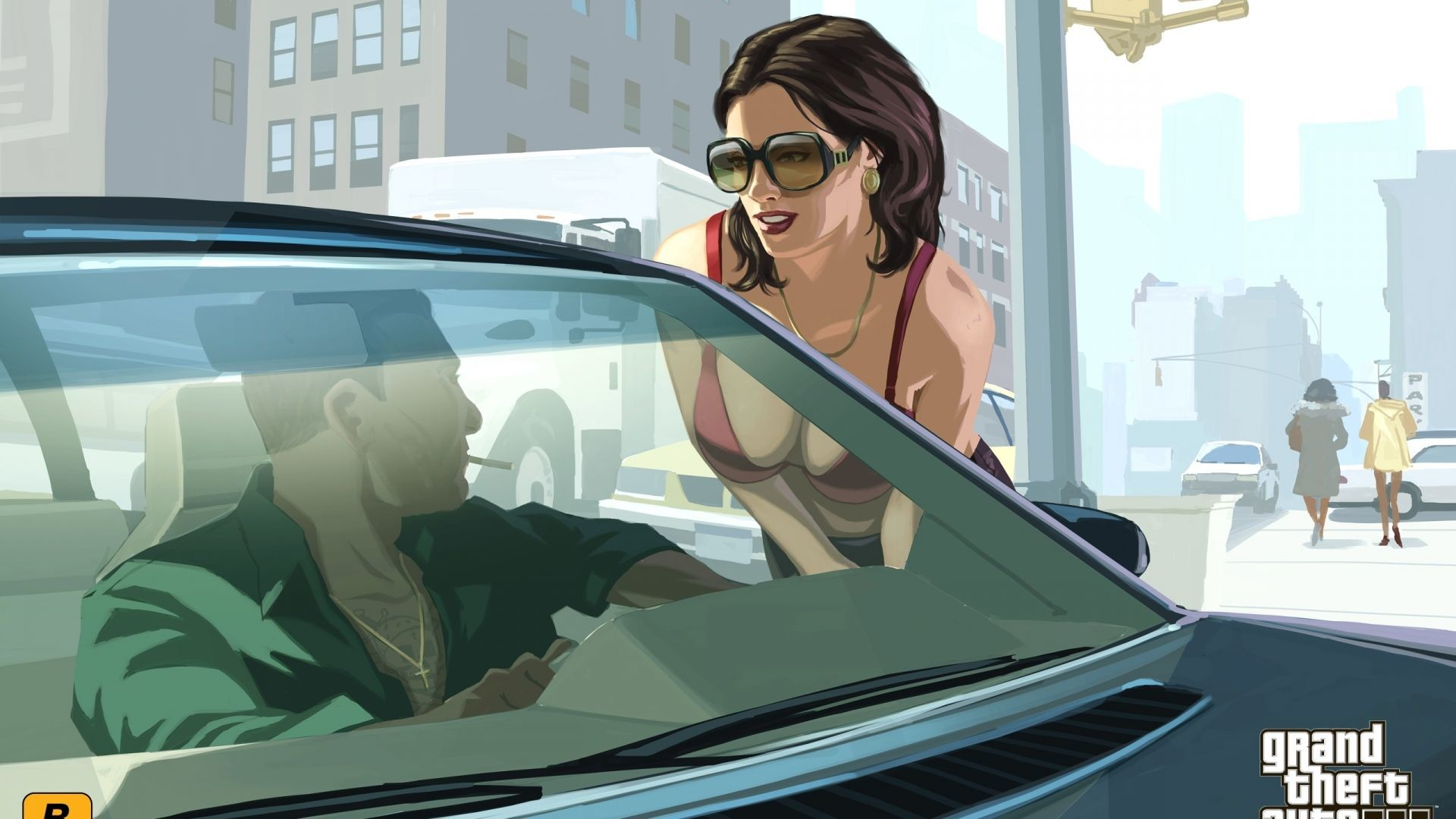 Res: 1920x1080, GTA Niko Bellic and his girl Wallpaper GTA IV Games Wallpapers