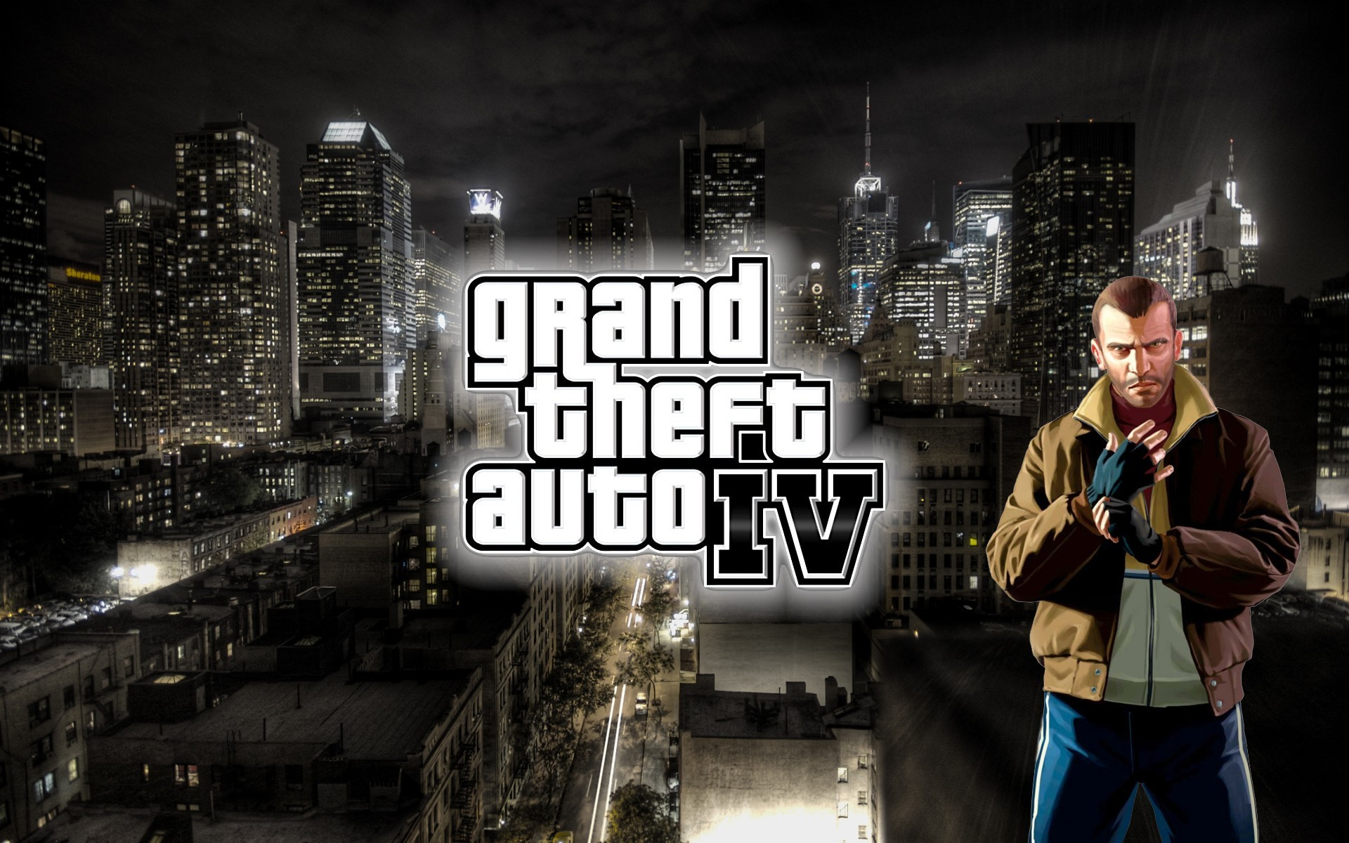 Res: 1920x1200, games grand theft auto iv liberty city niko bellic