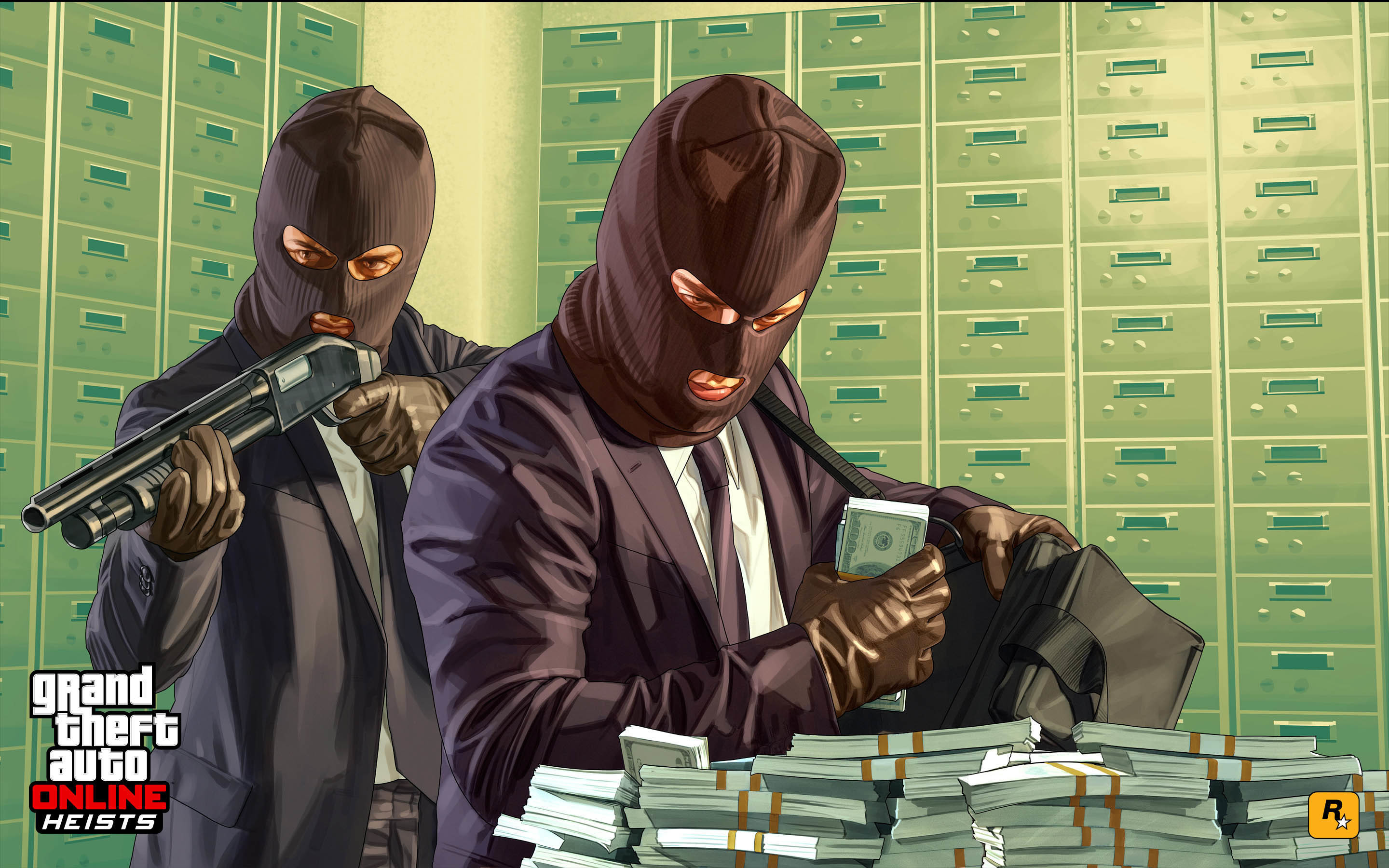Res: 2880x1800, Bank Heist - GTA 5 Online Update  wallpaper