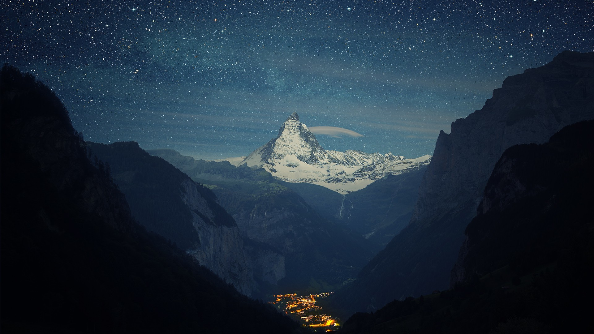 Res: 1920x1080, Mountain Night Wallpapers Hd Resolution On Wallpaper 1080p HD