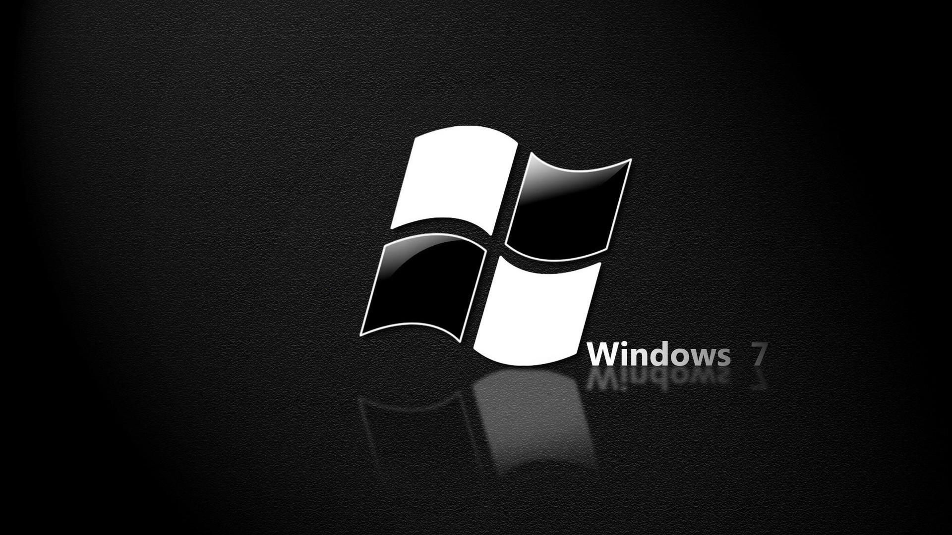Res: 1920x1080, Windows 7 Black High Resolution Wallpaper : Brands Wallpaper .