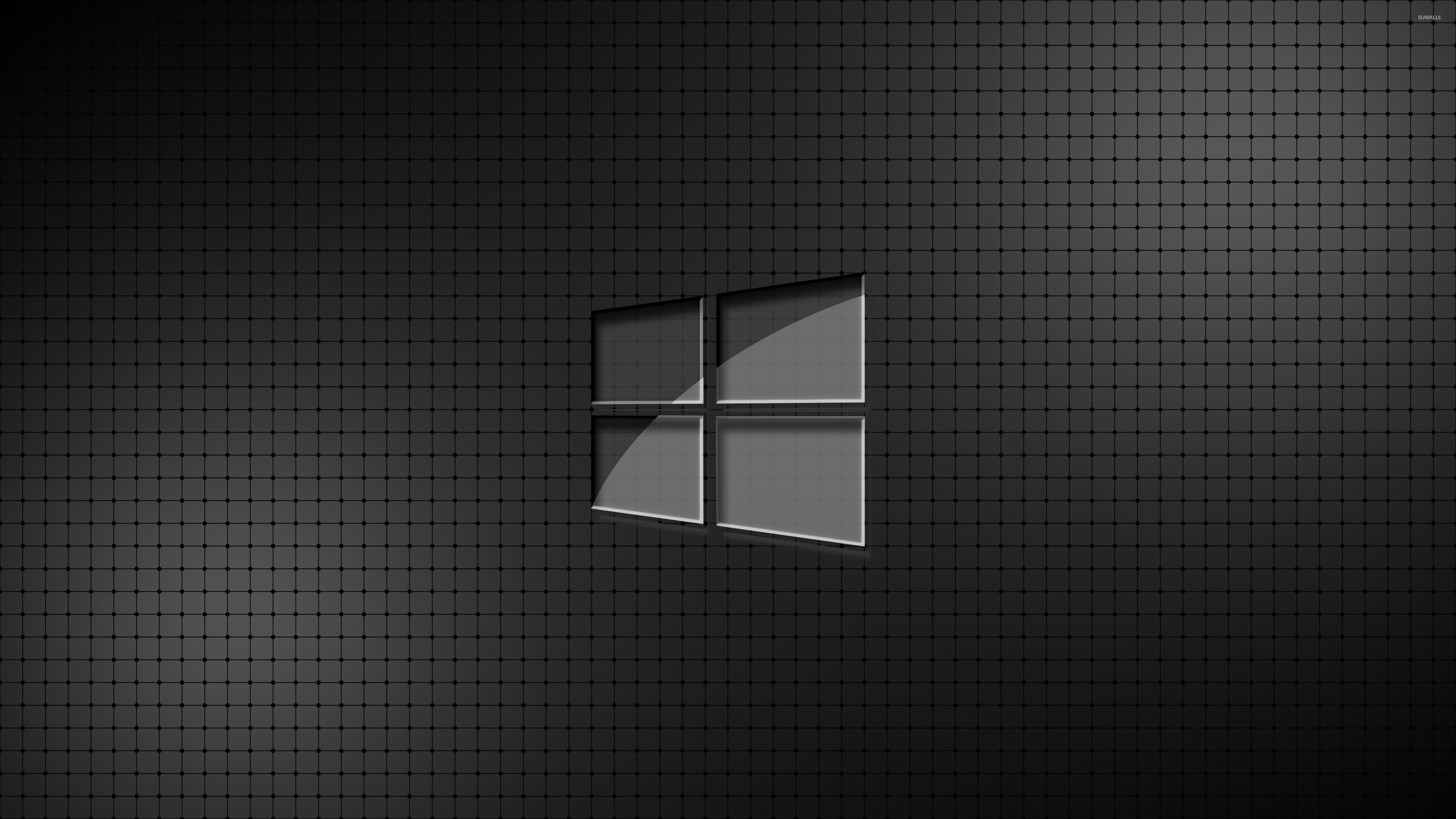 Res: 3840x2160, Glass Windows 10 on a grid wallpaper